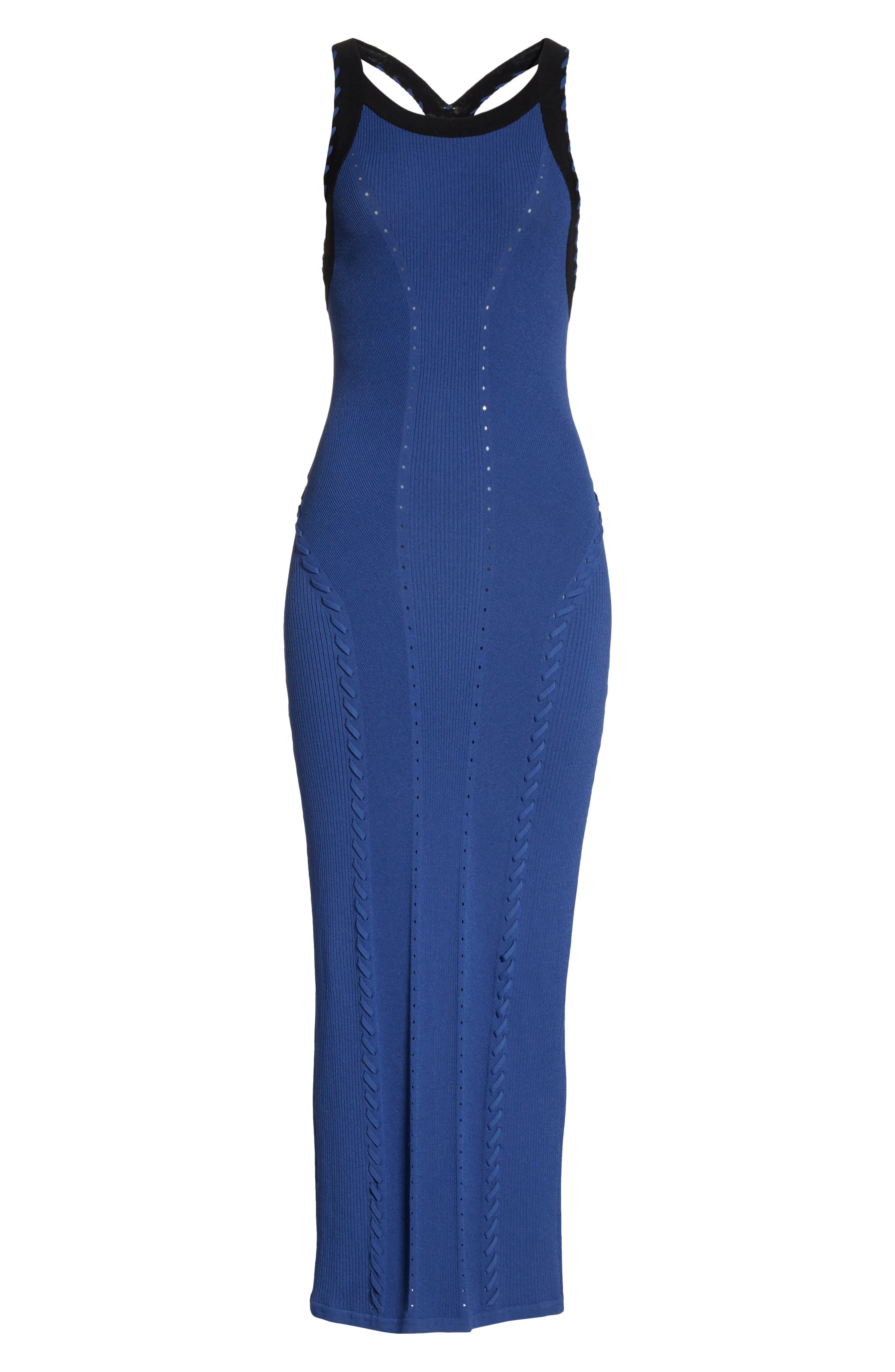 Brandy Whipstitch Detail Midi Dress,                             Alternate thumbnail 6, color,                             411