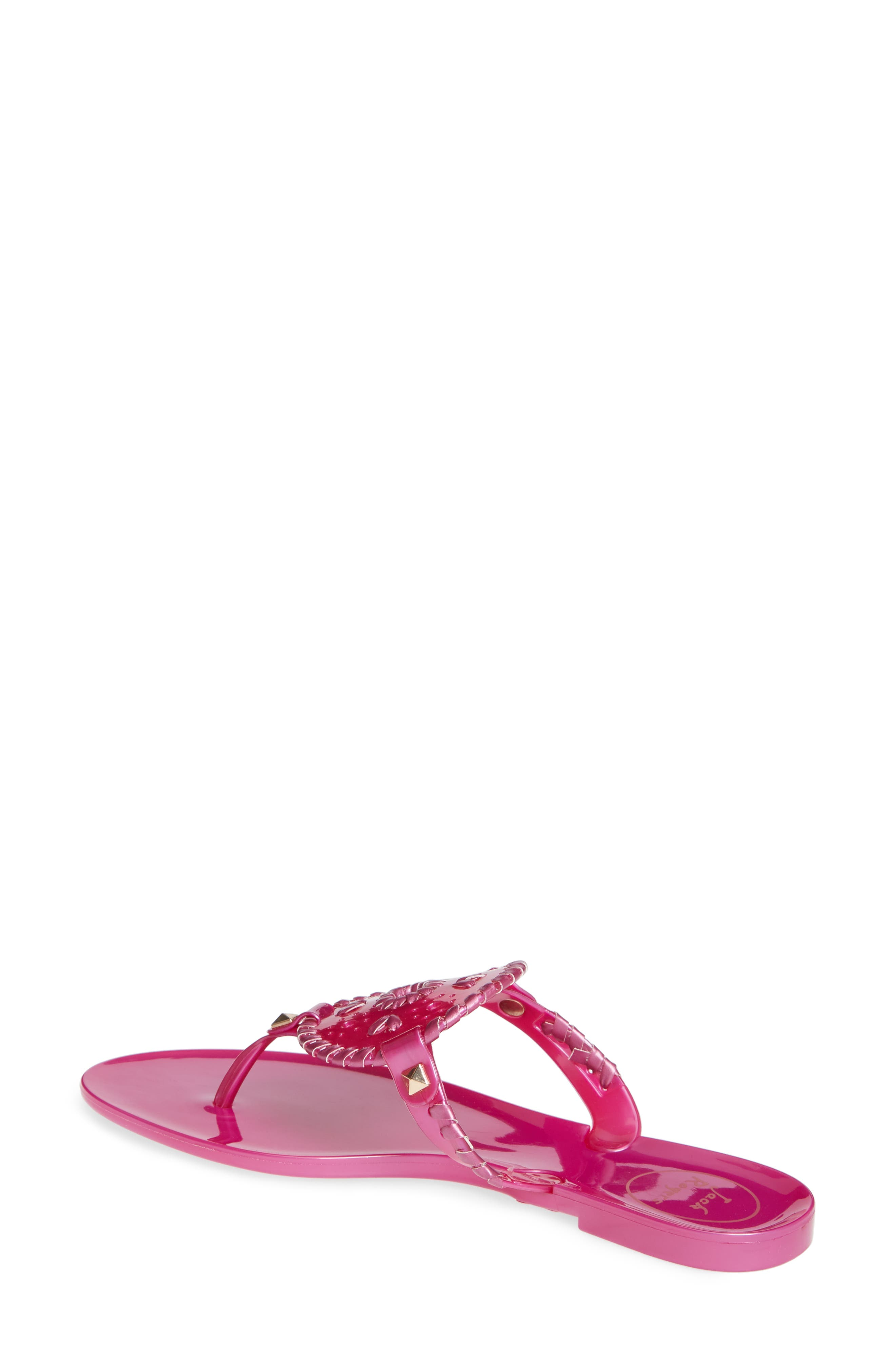 'Georgica' Jelly Flip Flop,                             Alternate thumbnail 2, color,                             BRIGHT PINK