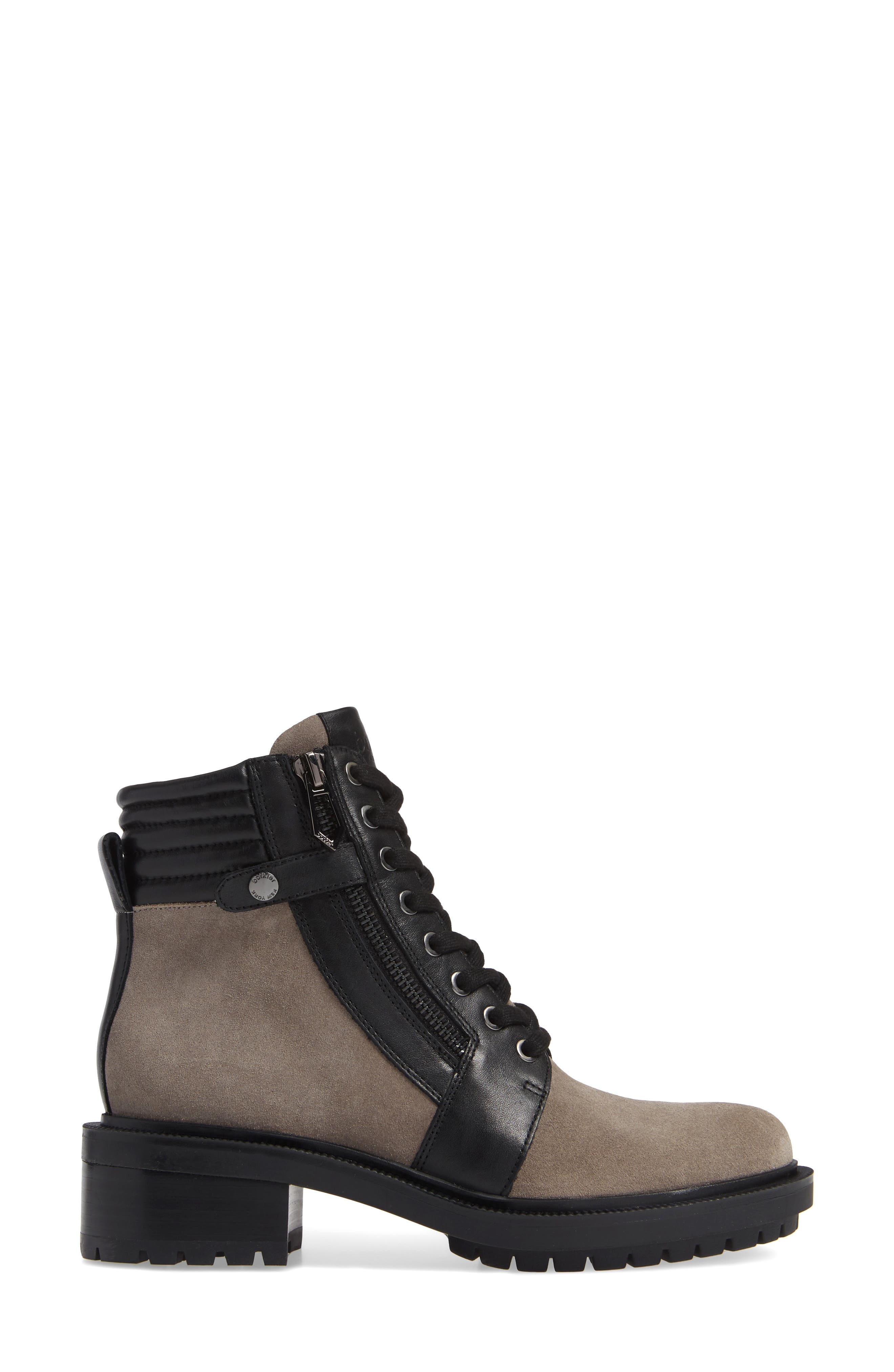 Moto Boot,                             Alternate thumbnail 3, color,                             WINTER GREY SUEDE