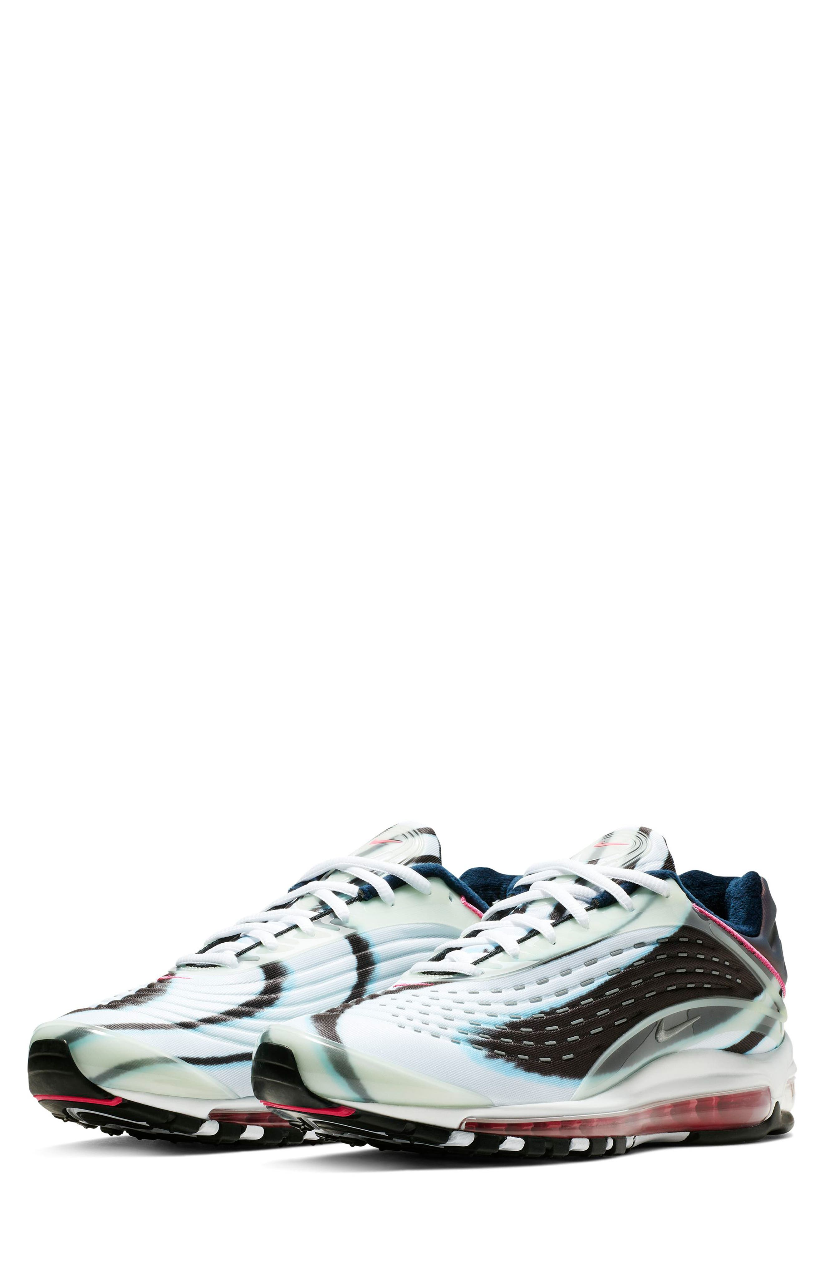 Air Max Deluxe Sneaker,                             Main thumbnail 1, color,                             GREEN/ SILVER/ OBSIDIAN/ BLACK