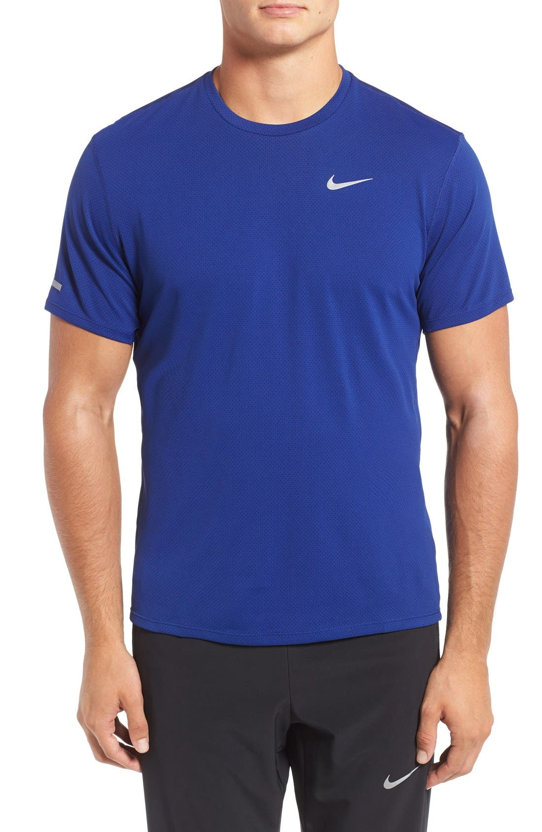 'Contour' Mesh Dri-FIT Running T-Shirt,                             Main thumbnail 5, color,