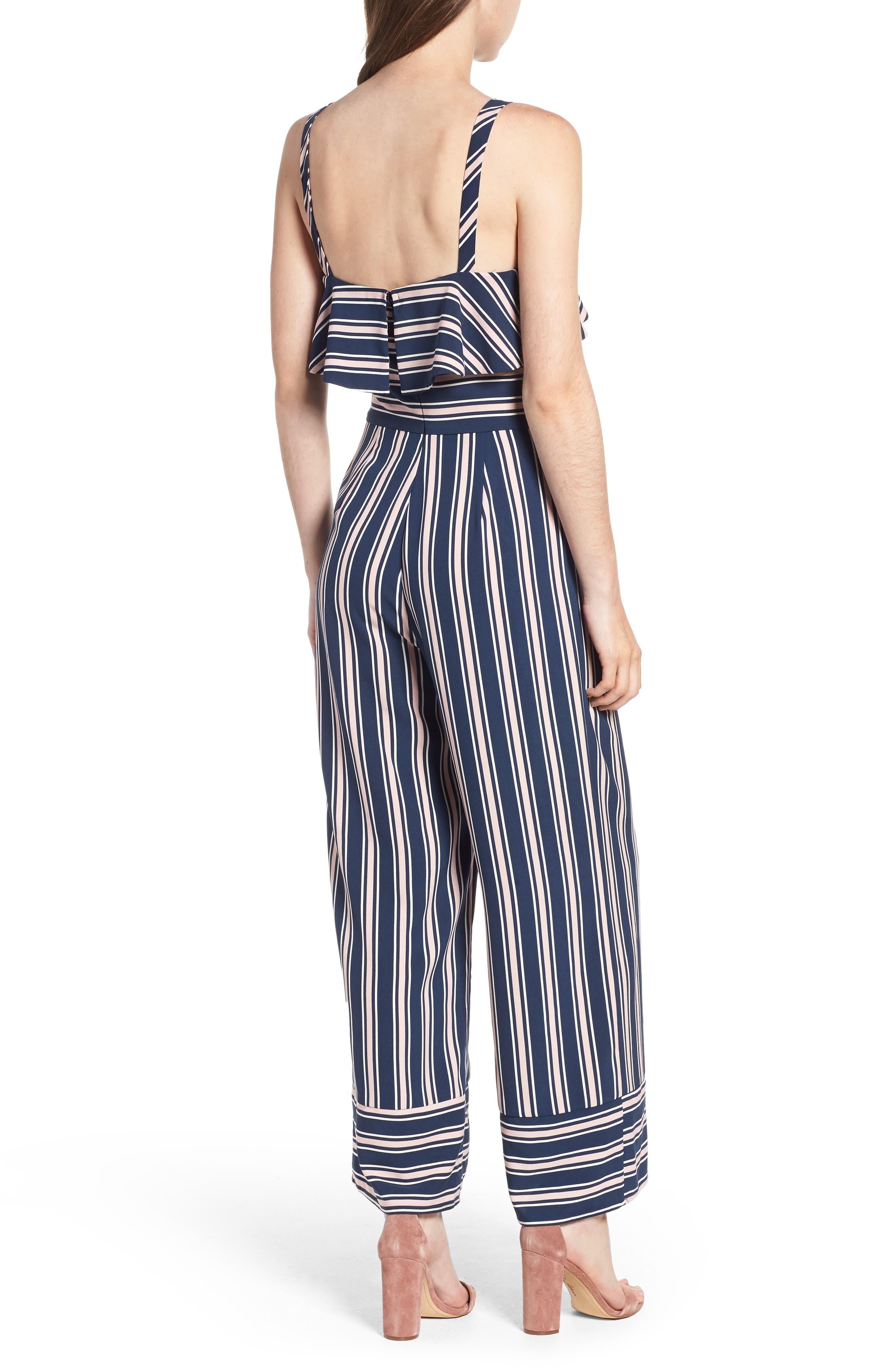 Stripe Jumpsuit,                             Alternate thumbnail 5, color,