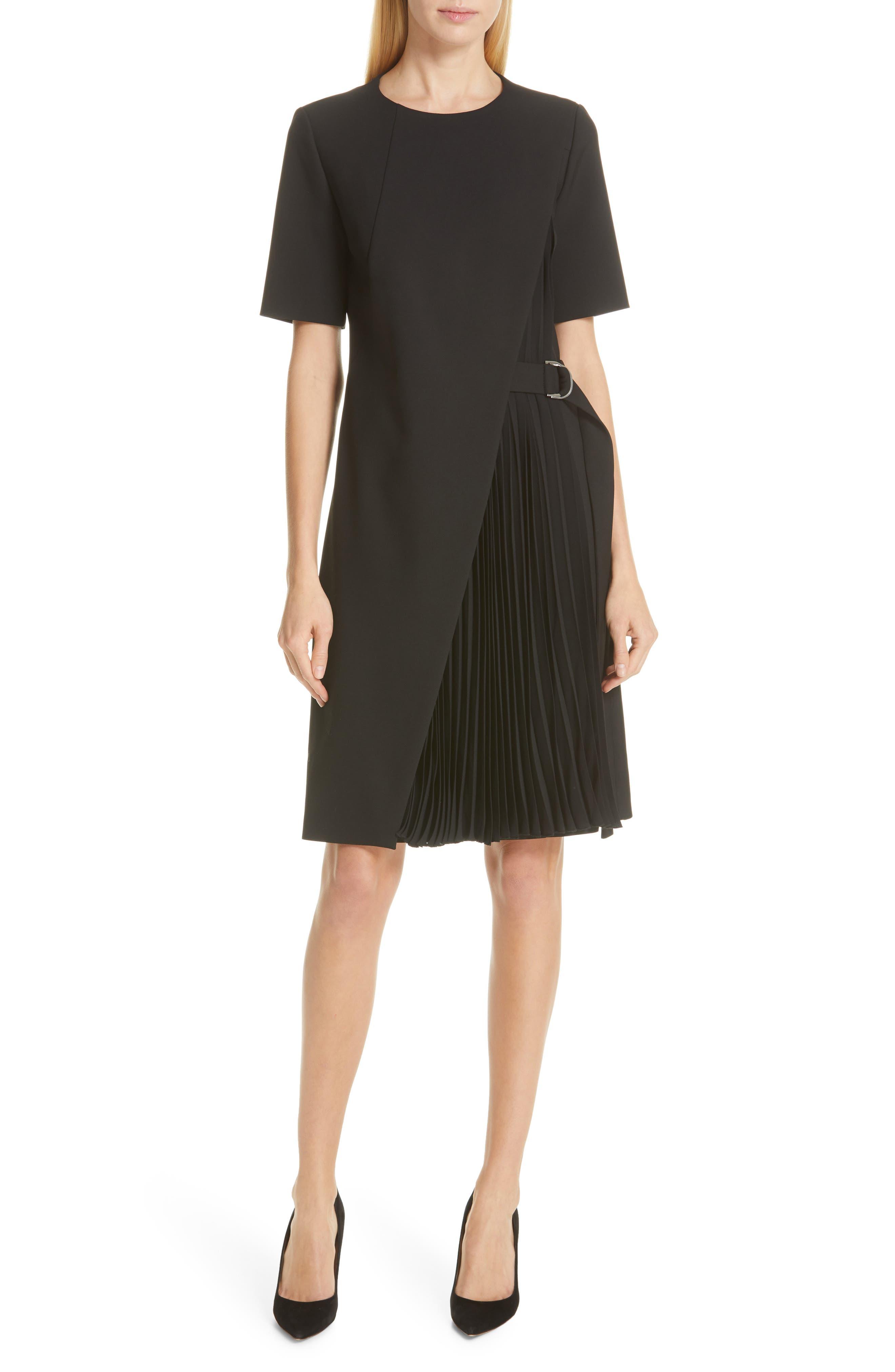 Boss Dakilane Soft Stretch Wrap Dress, Black