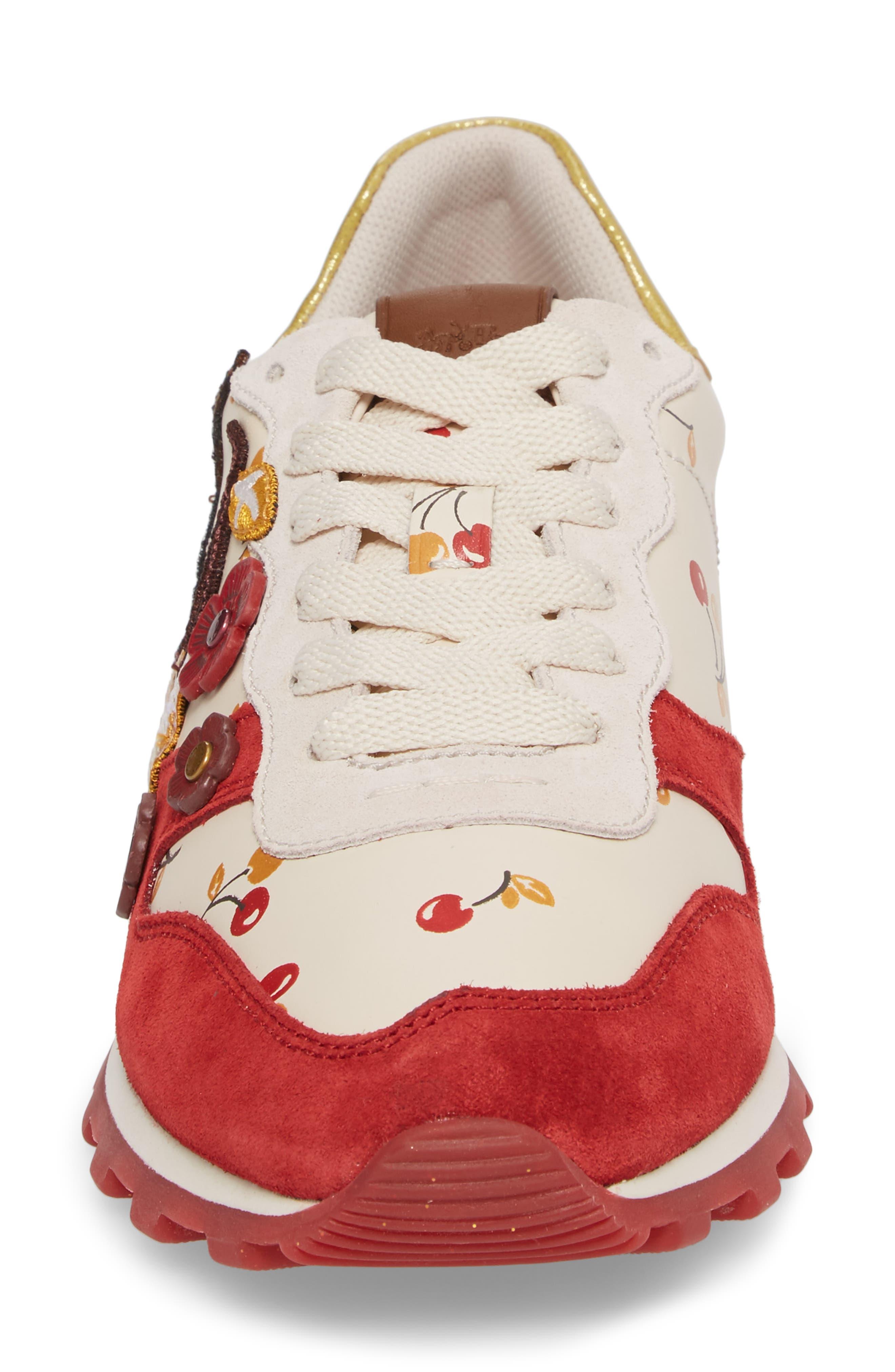 Patch Runner Sneaker,                             Alternate thumbnail 4, color,                             100