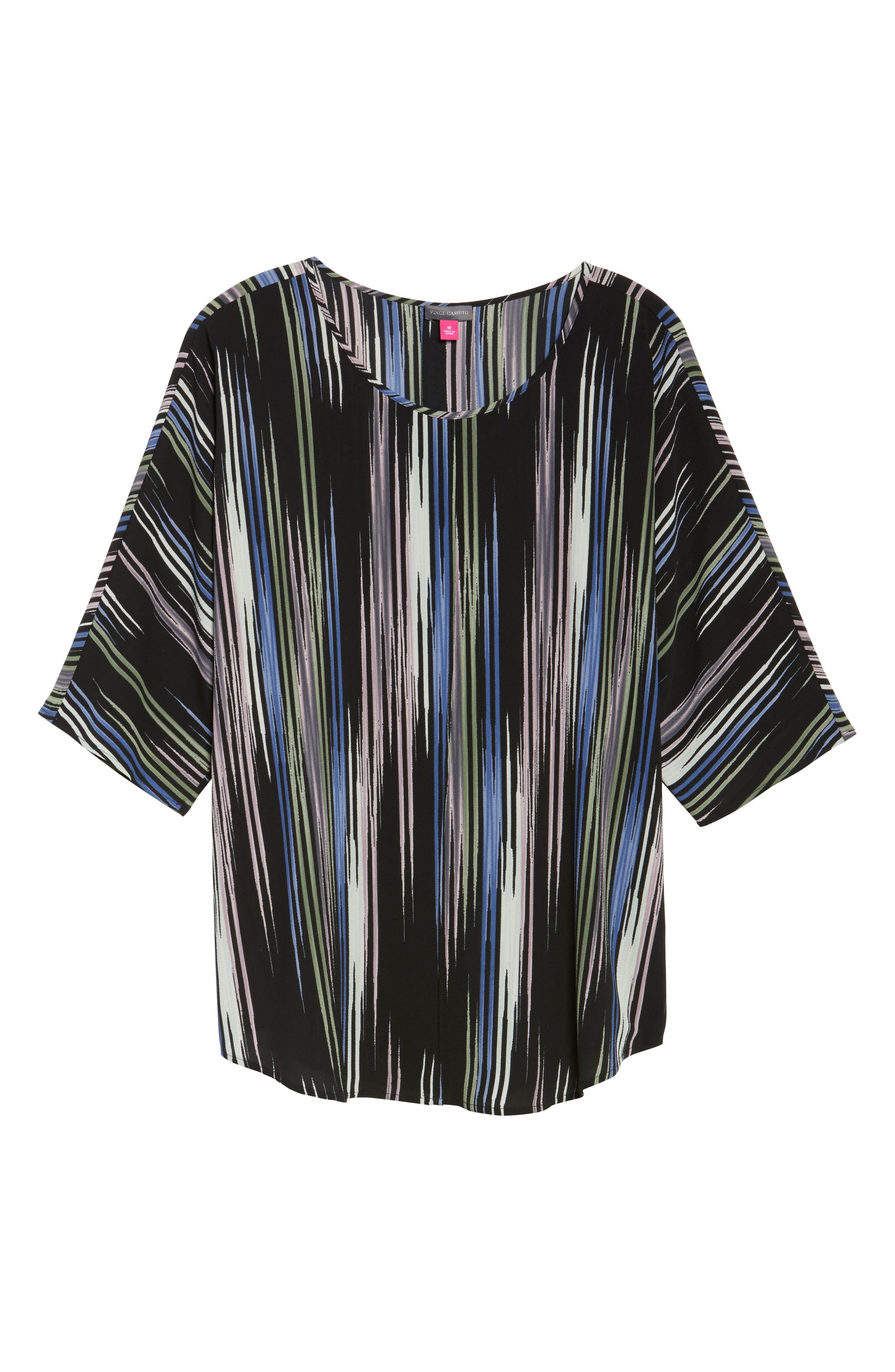 Elbow Sleeve Colorful Peaks Blouse,                             Alternate thumbnail 11, color,
