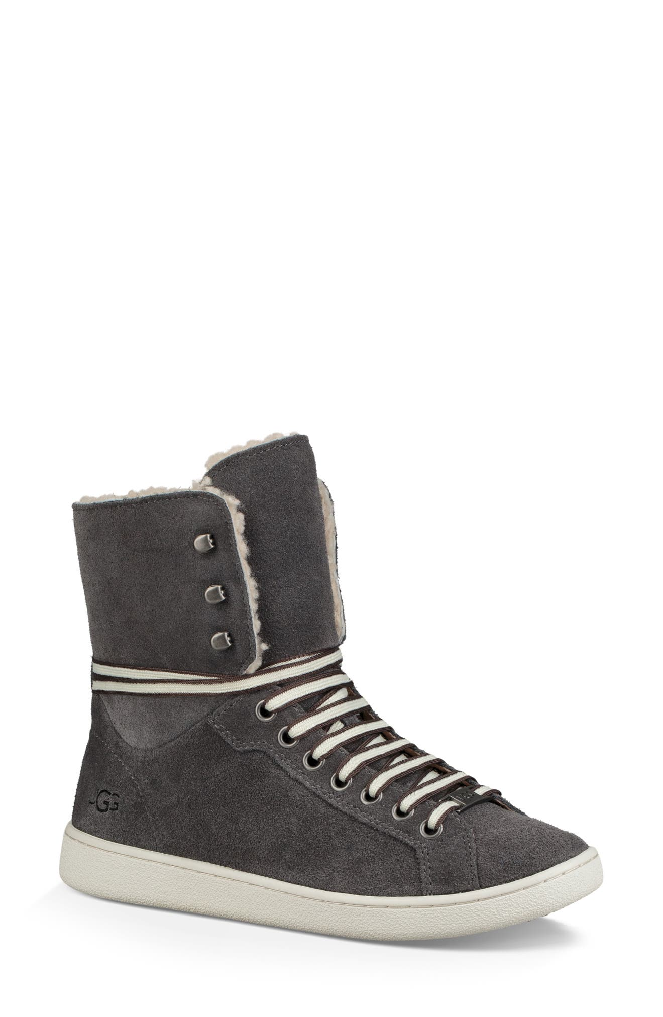 Starlyn Genuine Shearling Lined Boot,                             Alternate thumbnail 2, color,                             CHARCOAL