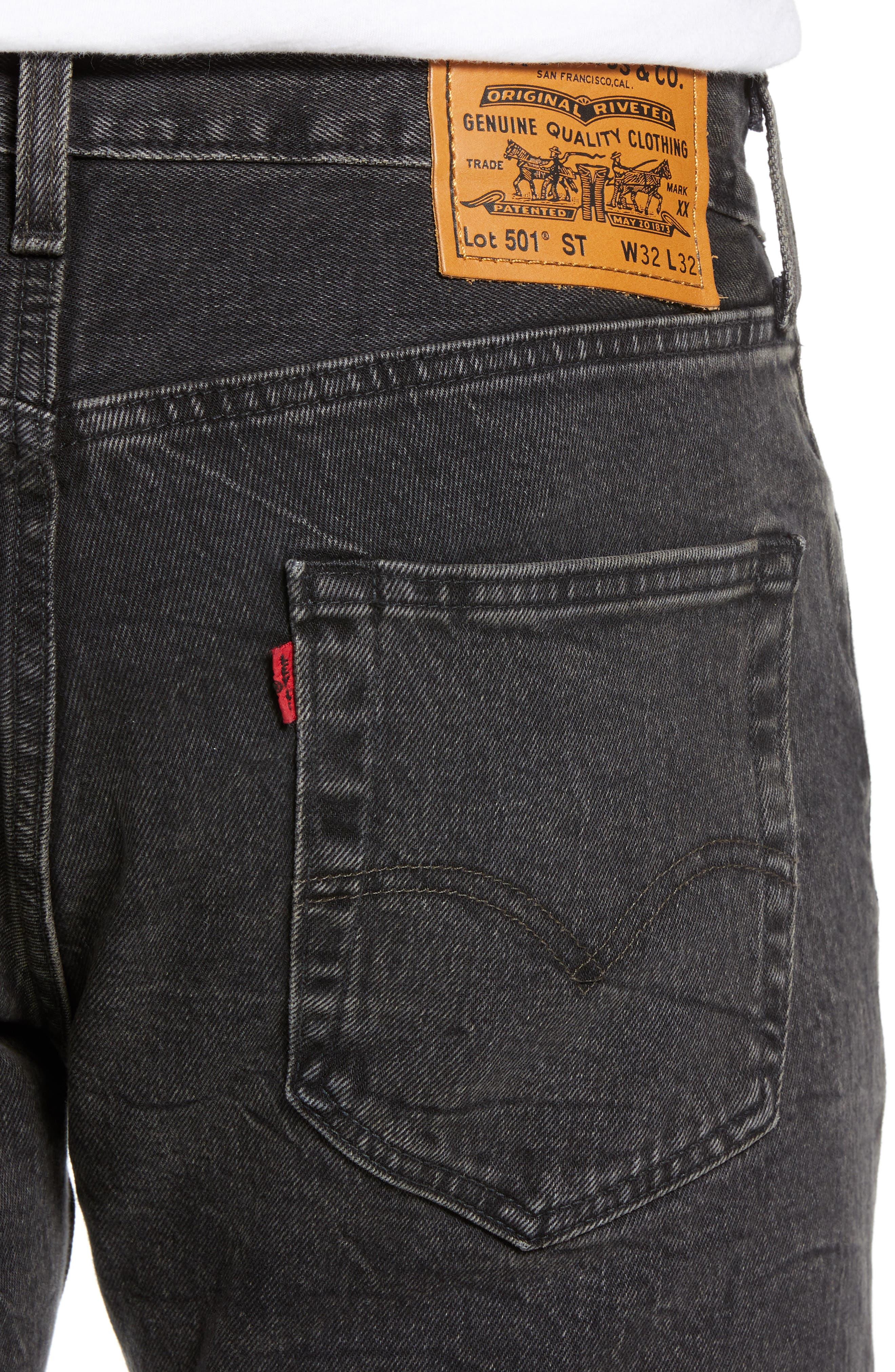x Justin Timberlake 501<sup>®</sup> Slim Taper Jeans,                             Alternate thumbnail 5, color,                             WASHED BLACK