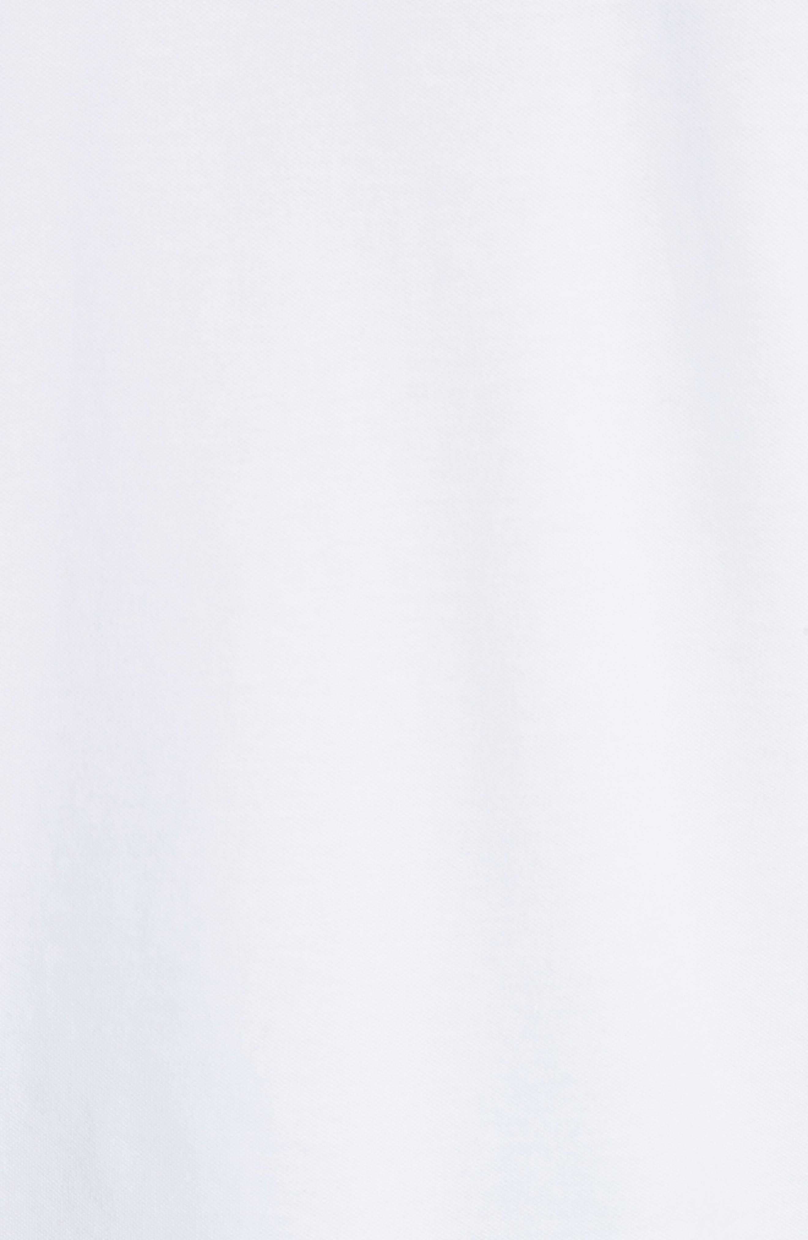 Stretch Cotton Polo Shirt,                             Alternate thumbnail 5, color,                             BIANCO OTTICO