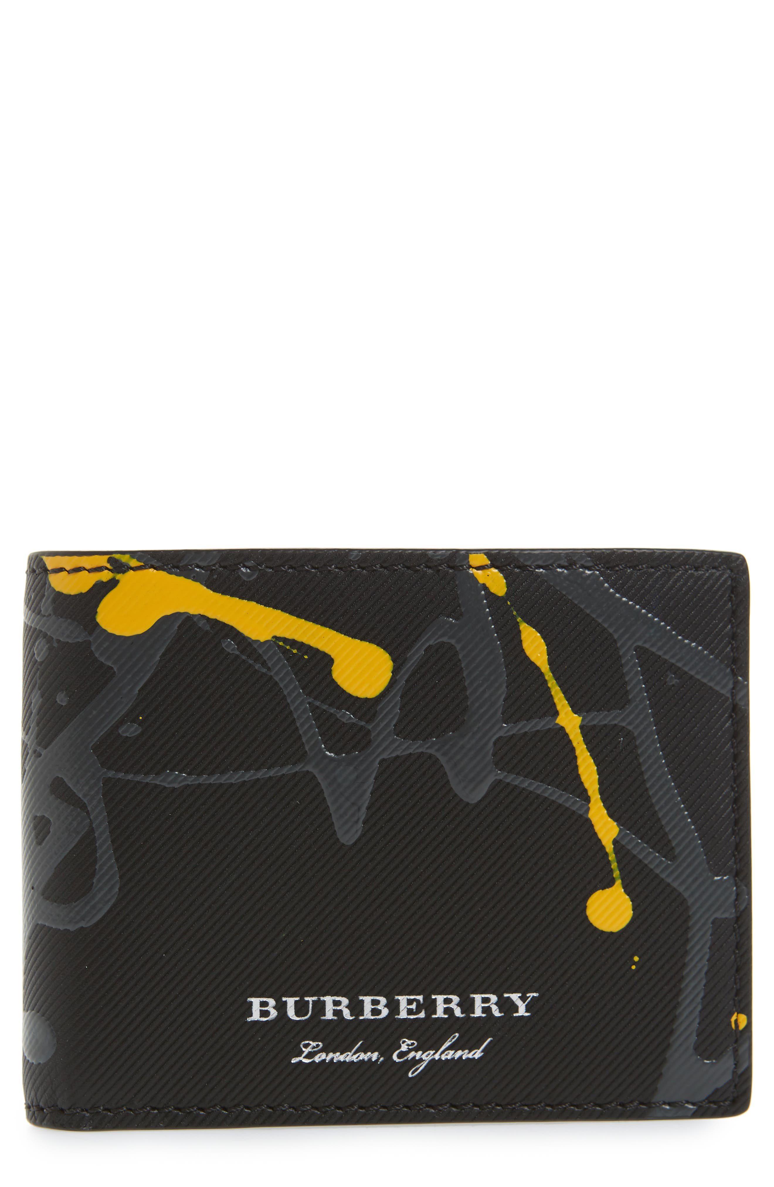 Trench Splash Leather Wallet,                             Main thumbnail 1, color,
