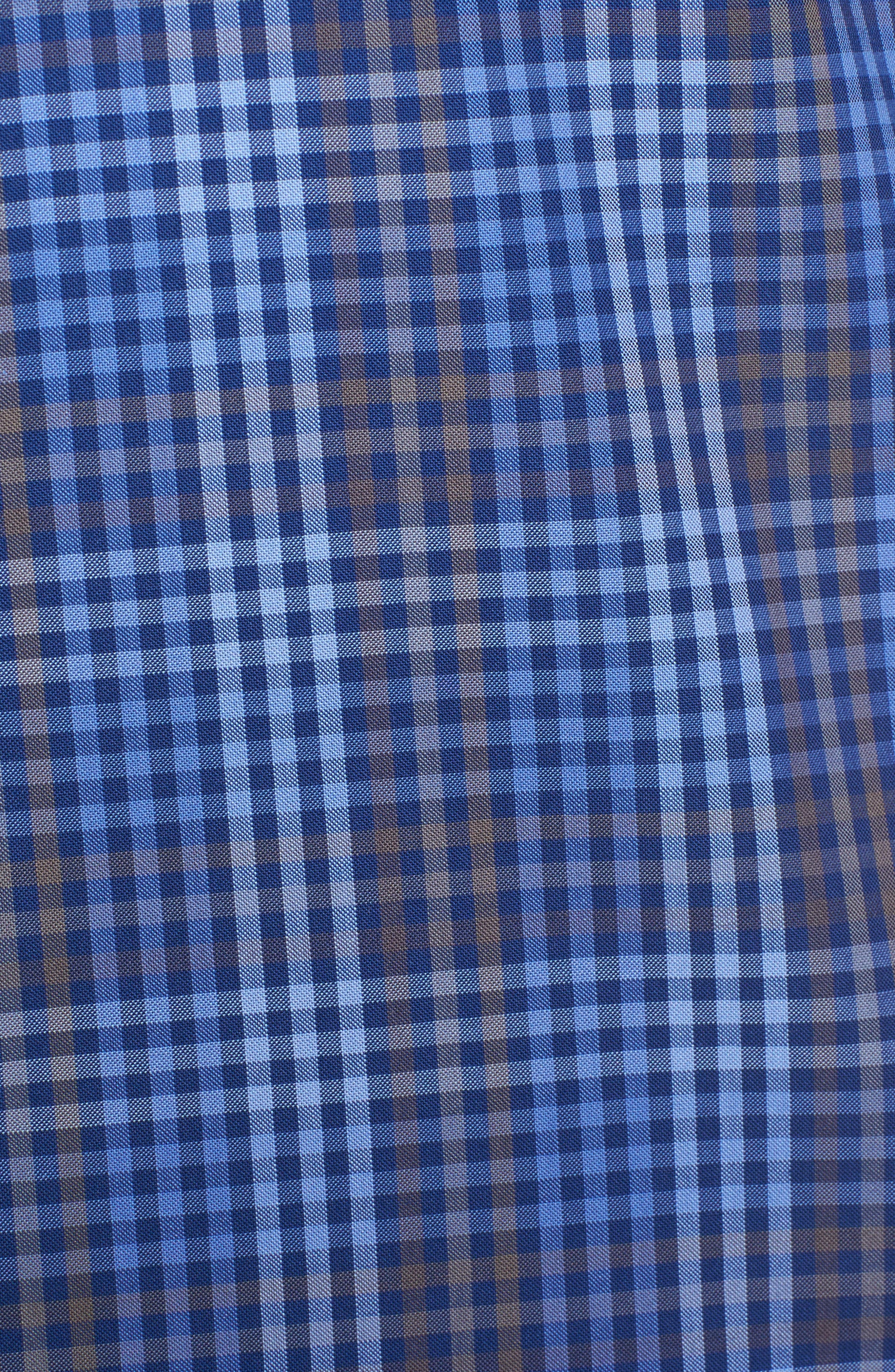 Alden Slim Fit Check Sport Shirt,                             Alternate thumbnail 5, color,                             400