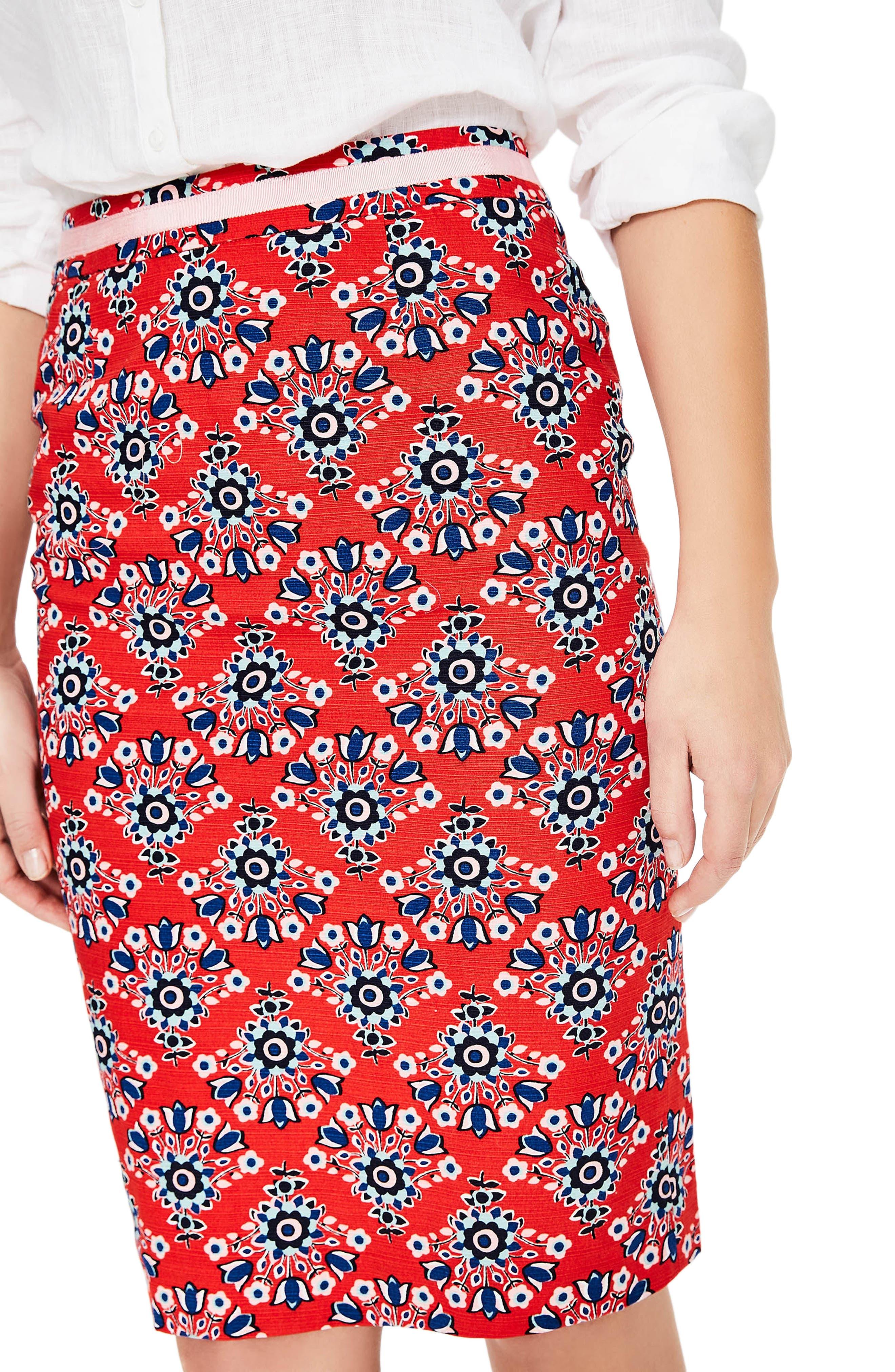 Print Pencil Skirt,                             Alternate thumbnail 8, color,