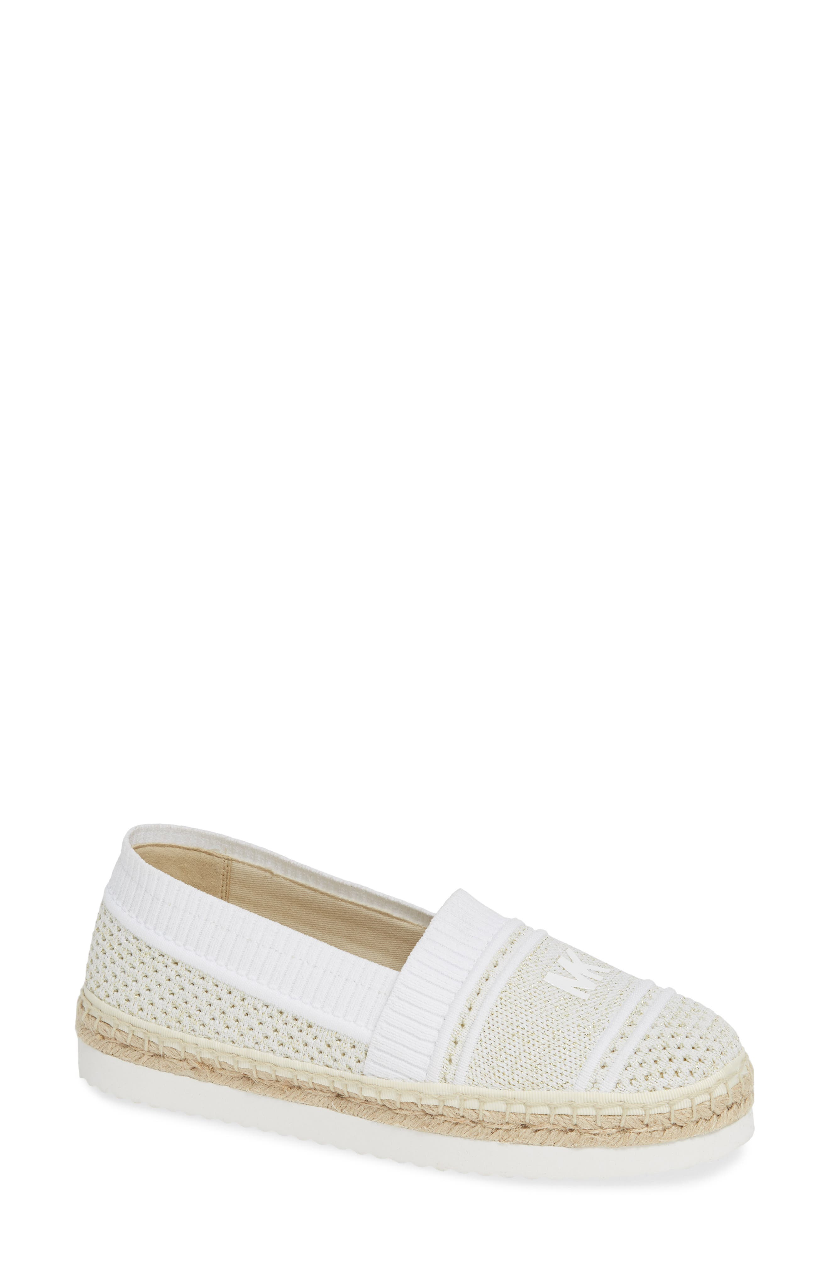 Raya Espadrille in Pale Gold Fabric