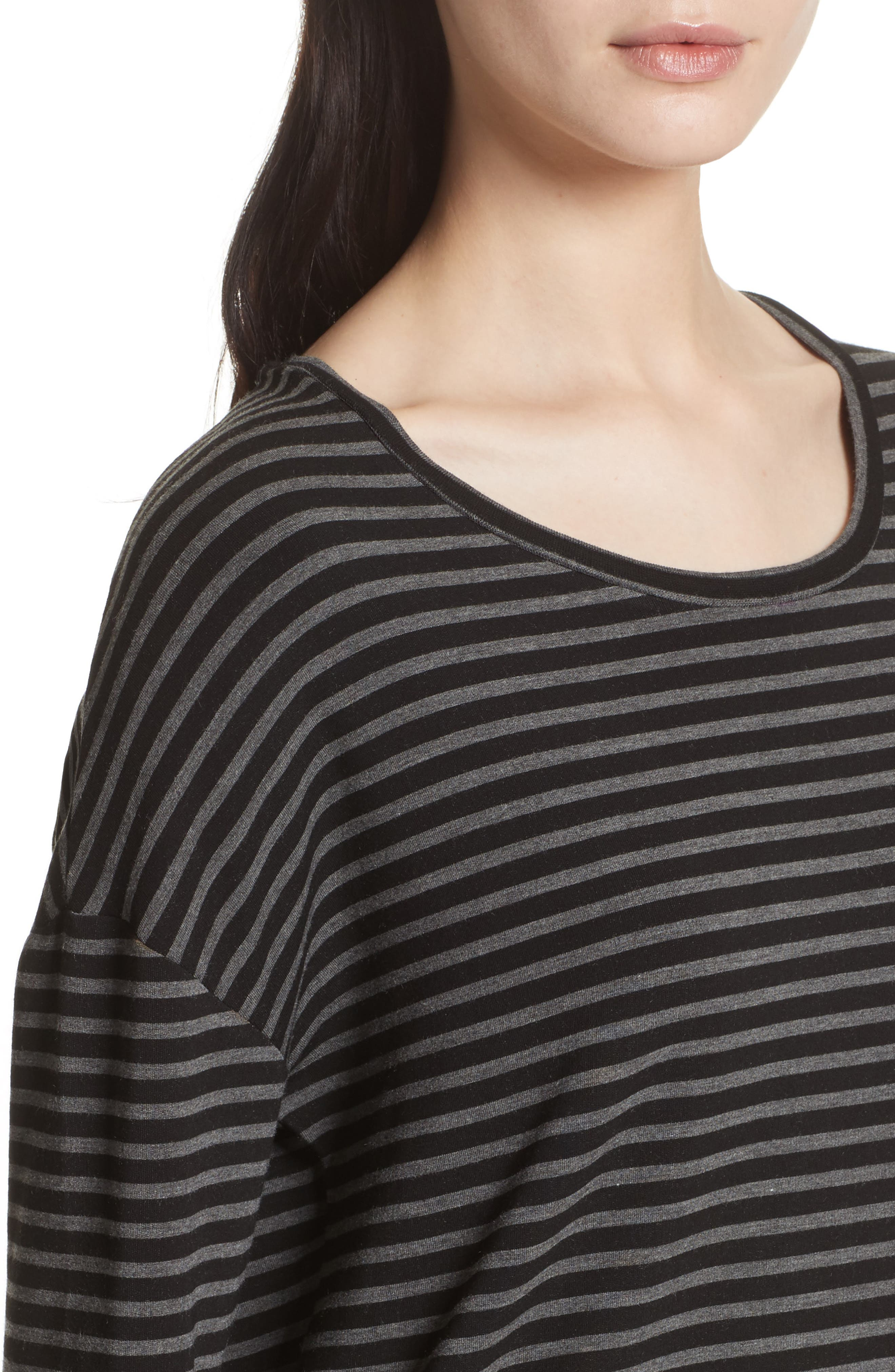 Striped Terry Tee,                             Alternate thumbnail 4, color,                             001