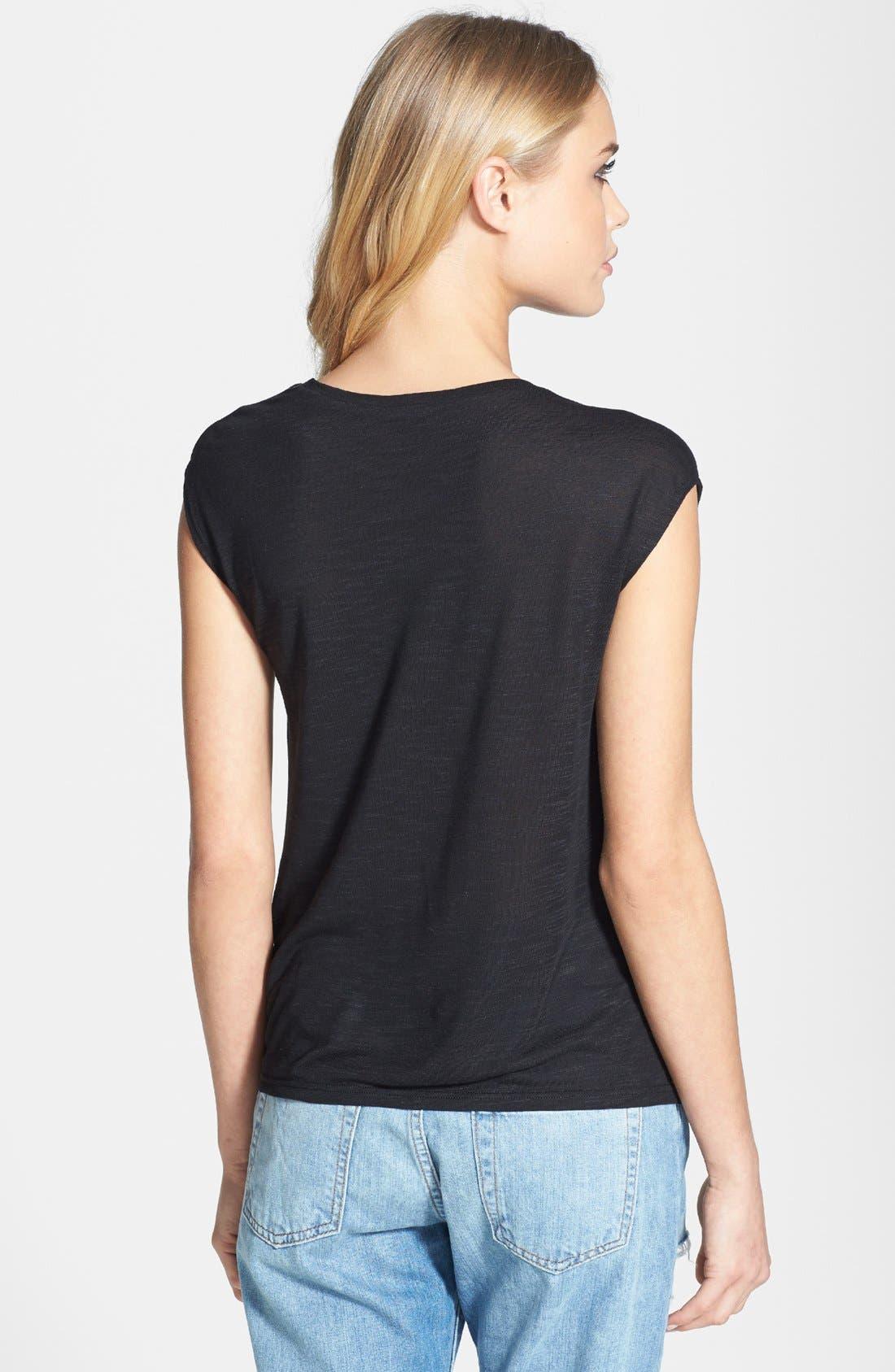 Draped Shoulder Jersey Top,                             Alternate thumbnail 2, color,                             001