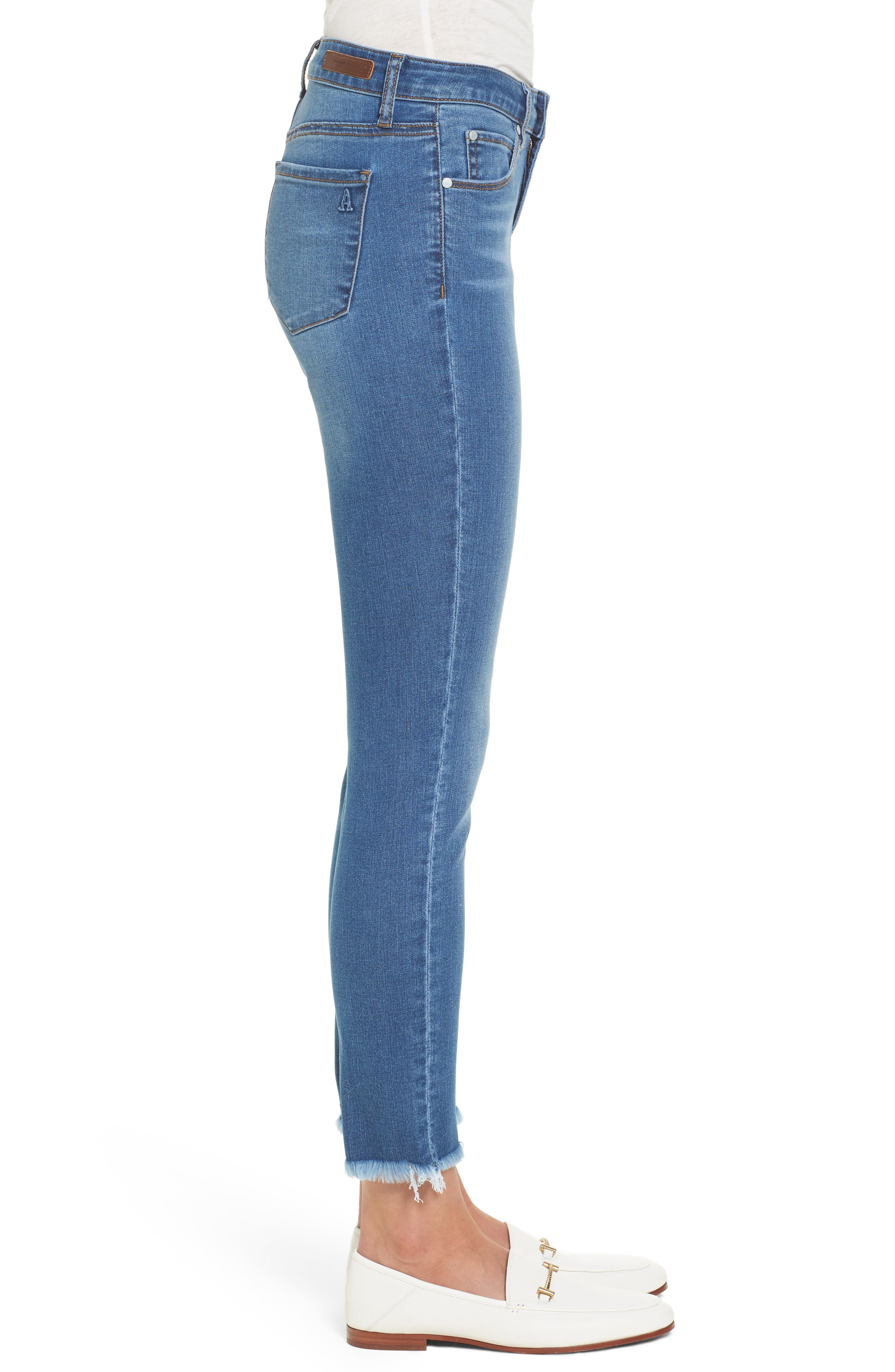 Carly Ankle Skinny Jeans,                             Alternate thumbnail 3, color,                             400