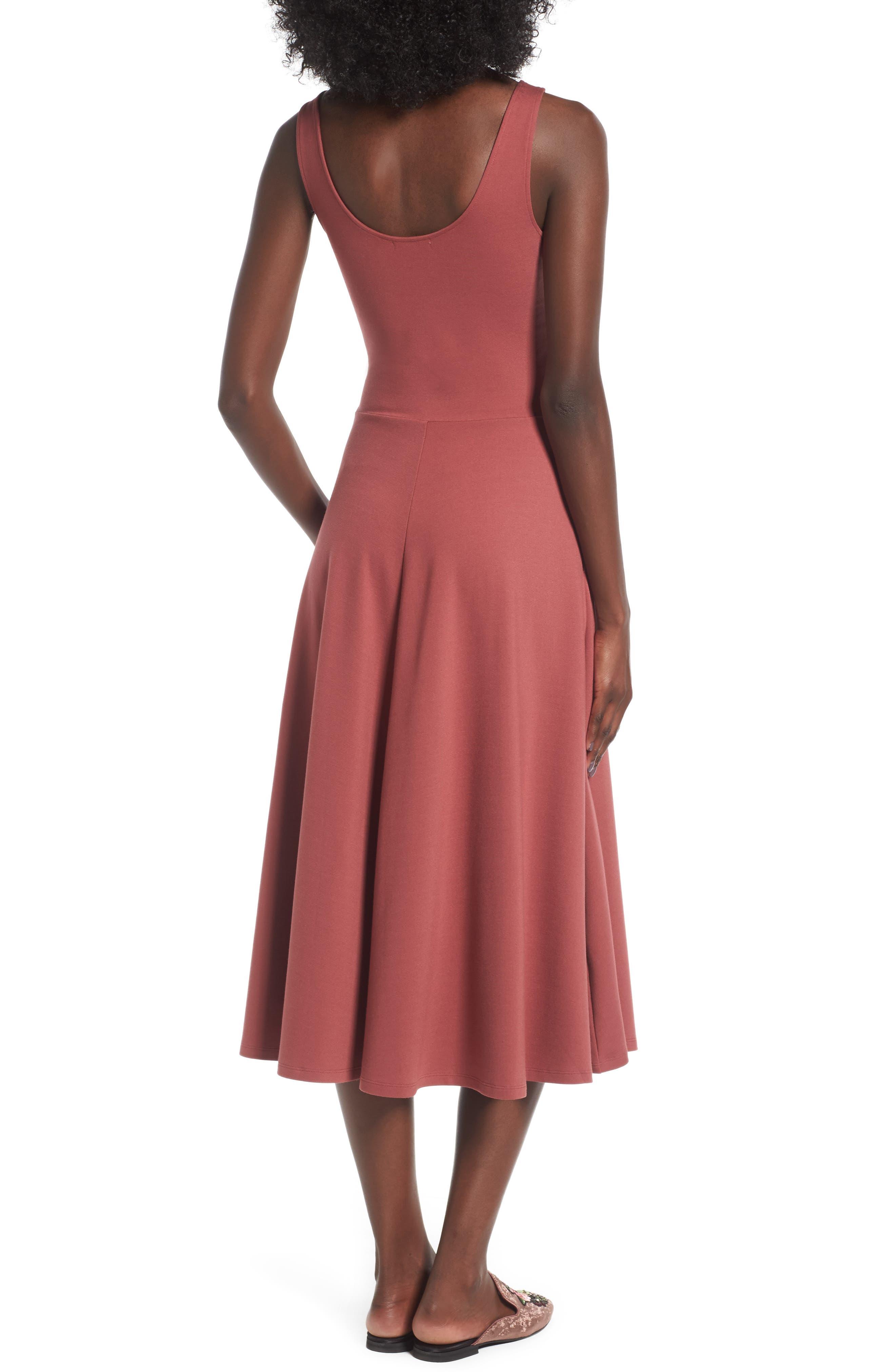 Stretch Knit Midi Dress,                             Alternate thumbnail 19, color,