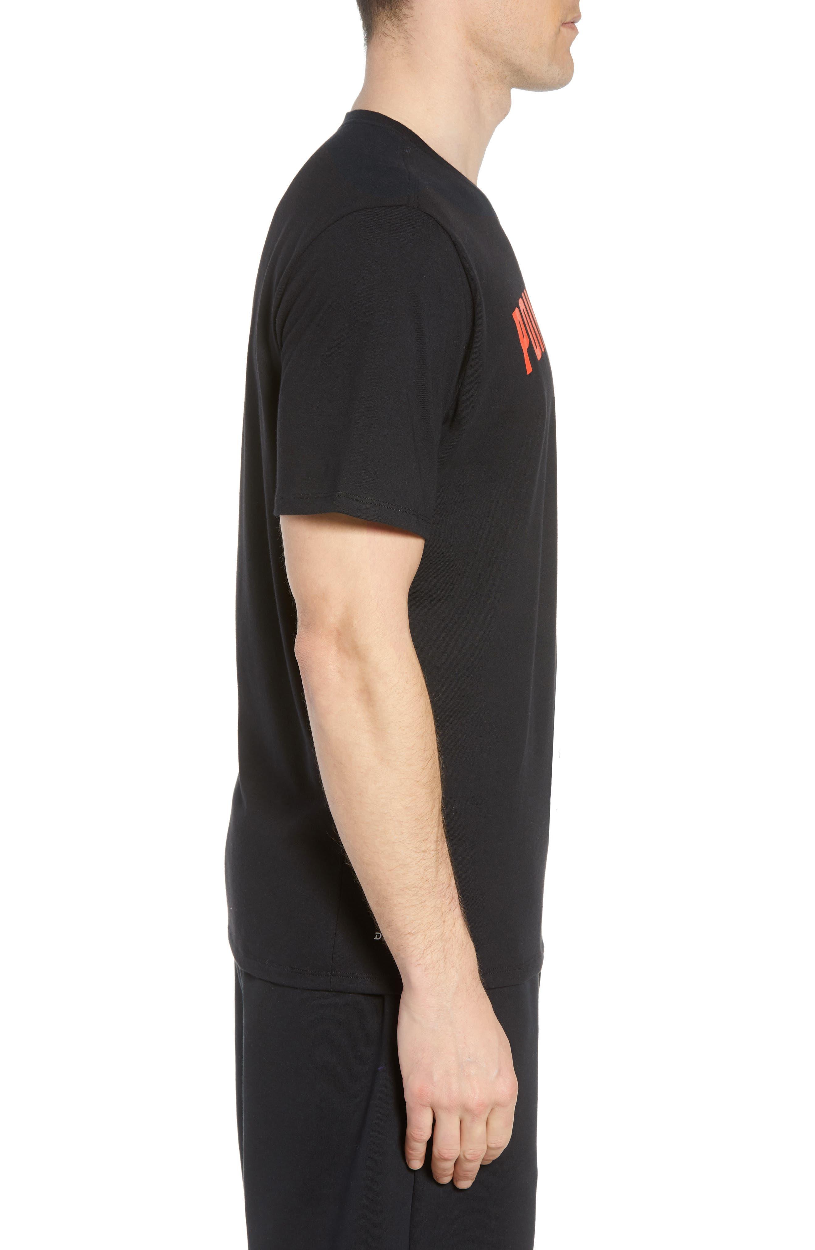 Dry Pointguard Graphic T-Shirt,                             Alternate thumbnail 3, color,                             BLACK/ BLACK
