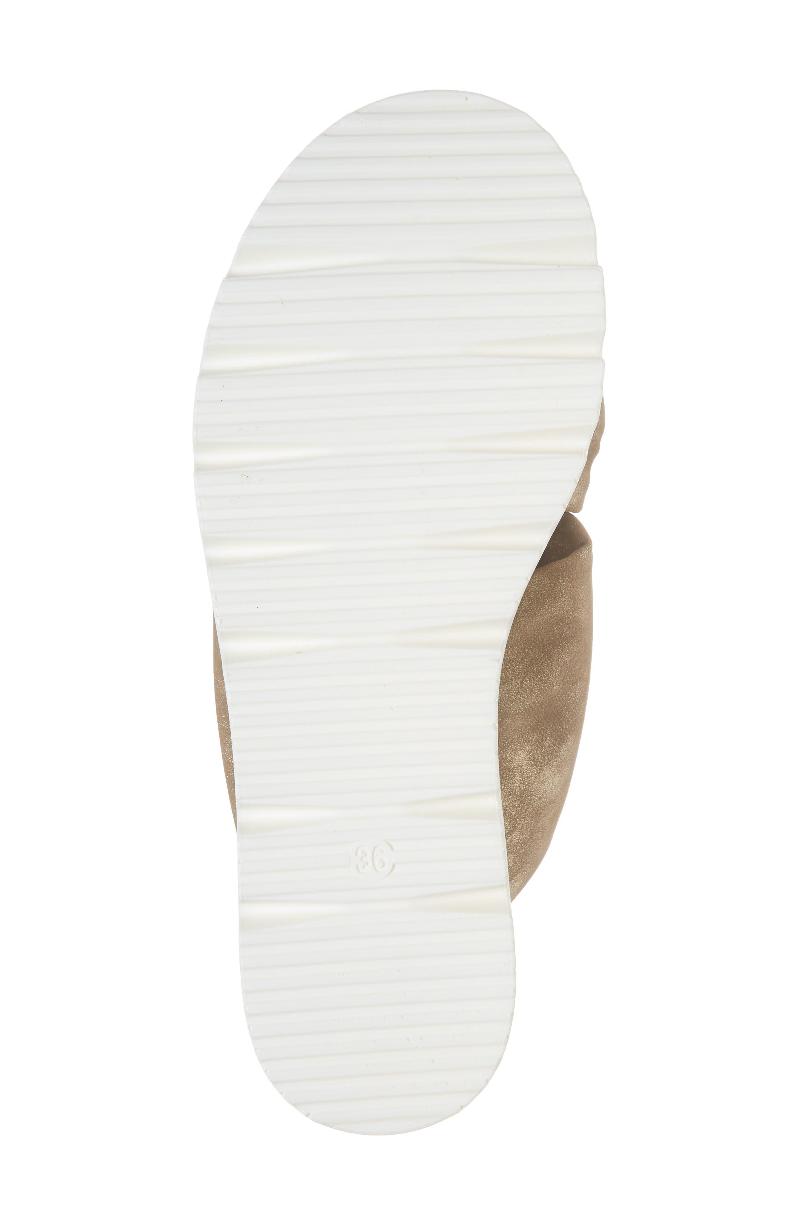 Sandy Platform Slide Sandal,                             Alternate thumbnail 6, color,                             BRONZE LEATHER