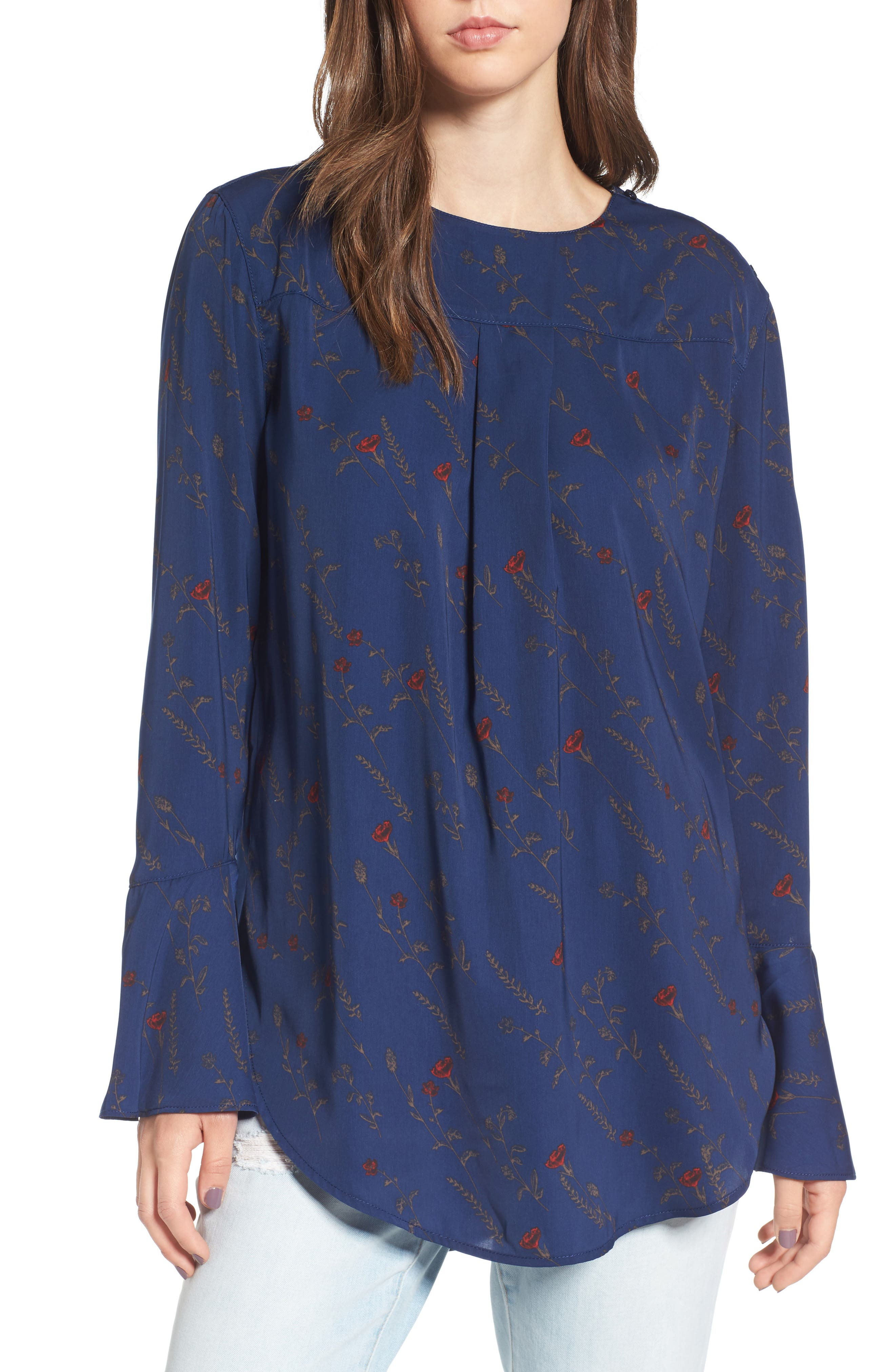 Bell Sleeve Top,                             Main thumbnail 1, color,                             400