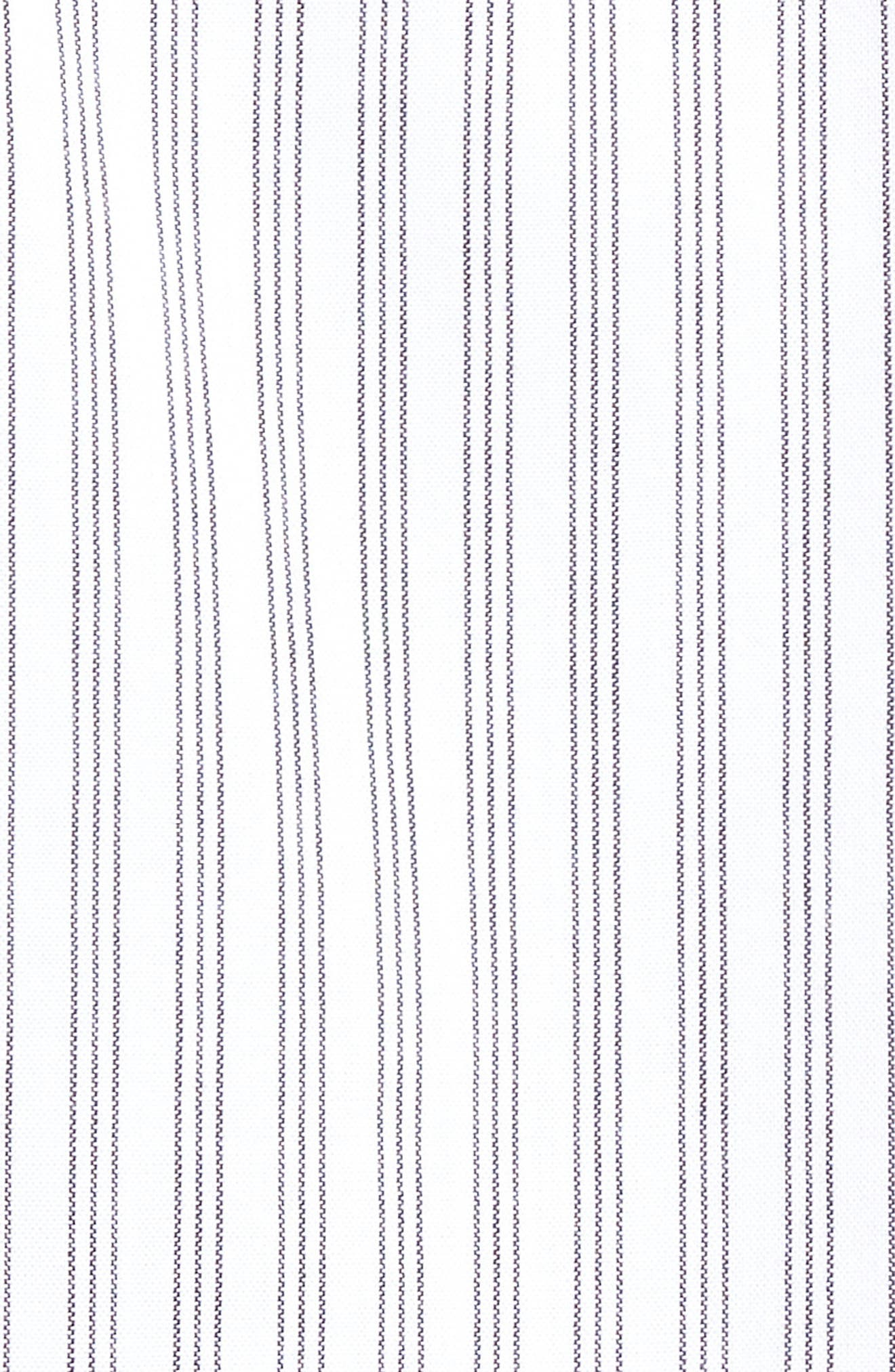 Rollins Woven Shirt,                             Alternate thumbnail 5, color,                             BLACK/WHITE STRIPE