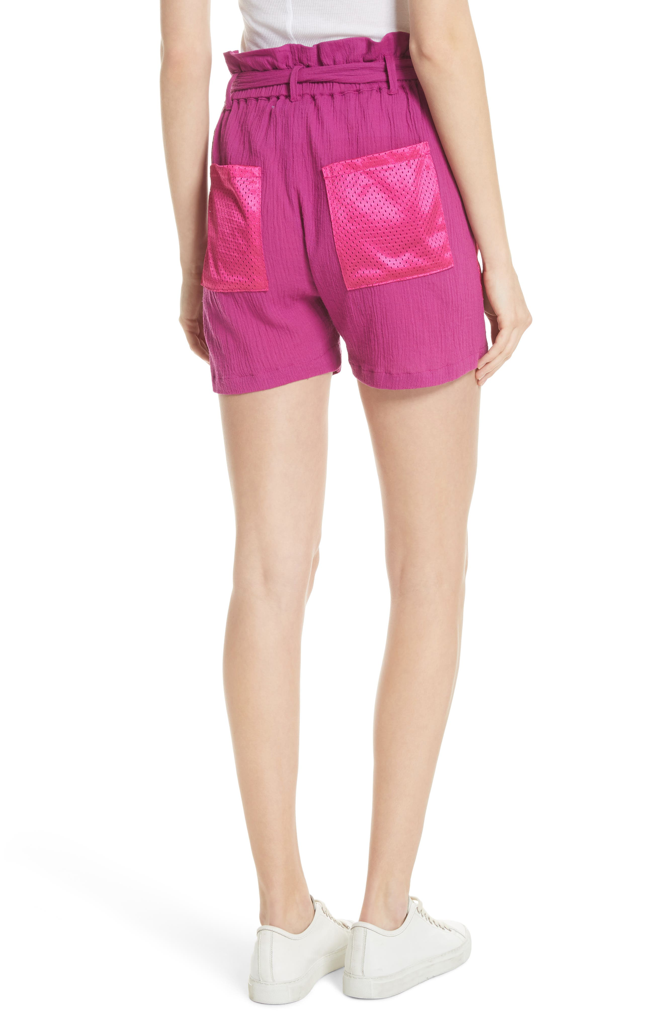Island Mesh Pocket Shorts,                             Alternate thumbnail 2, color,                             MAGENTA
