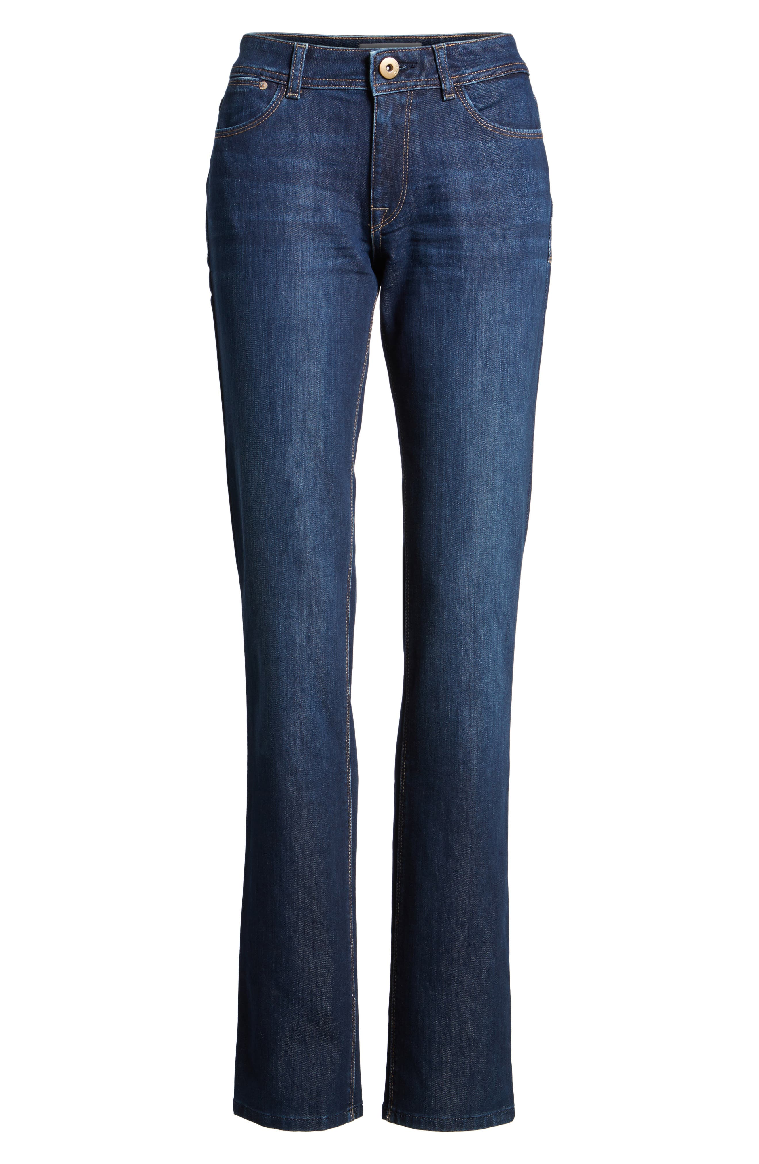 'Coco' Curvy Straight Jeans,                             Alternate thumbnail 7, color,                             SOLO