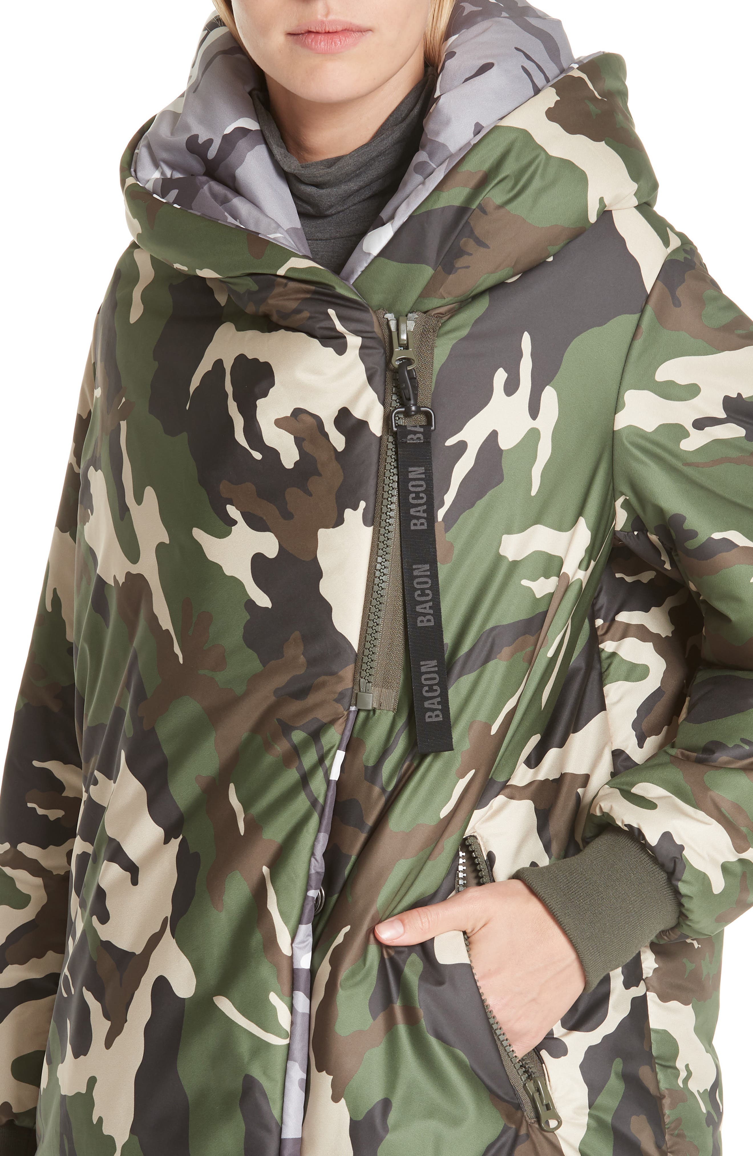 BACON,                             Big Blanket 78 Camo Puffer Coat,                             Alternate thumbnail 4, color,                             300