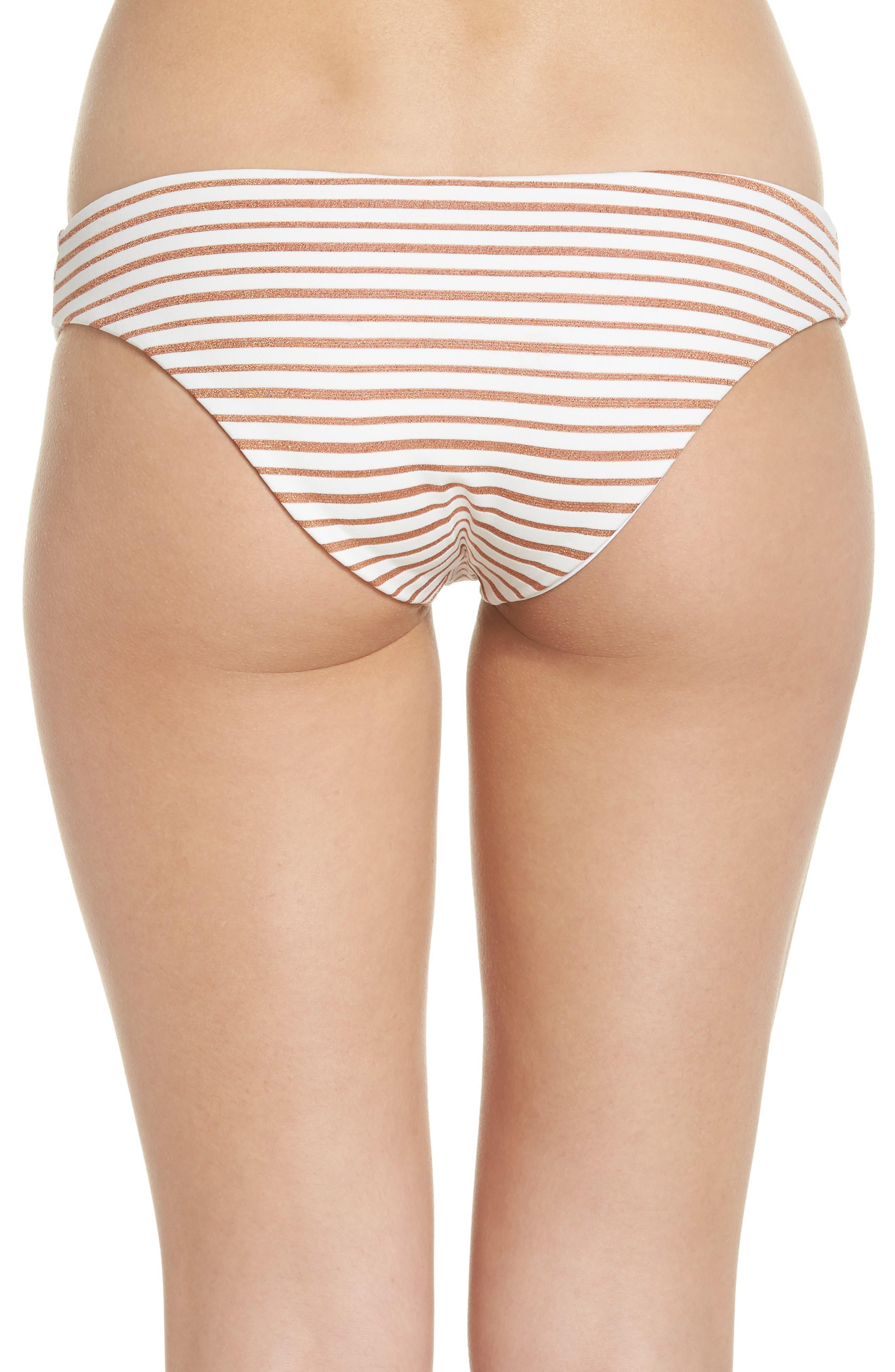 L SPACE,                             Sandy Stripe Bikini Bottoms,                             Alternate thumbnail 2, color,                             100