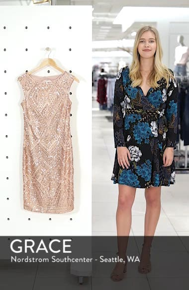Sequin Embellished Cocktail Dress, sales video thumbnail