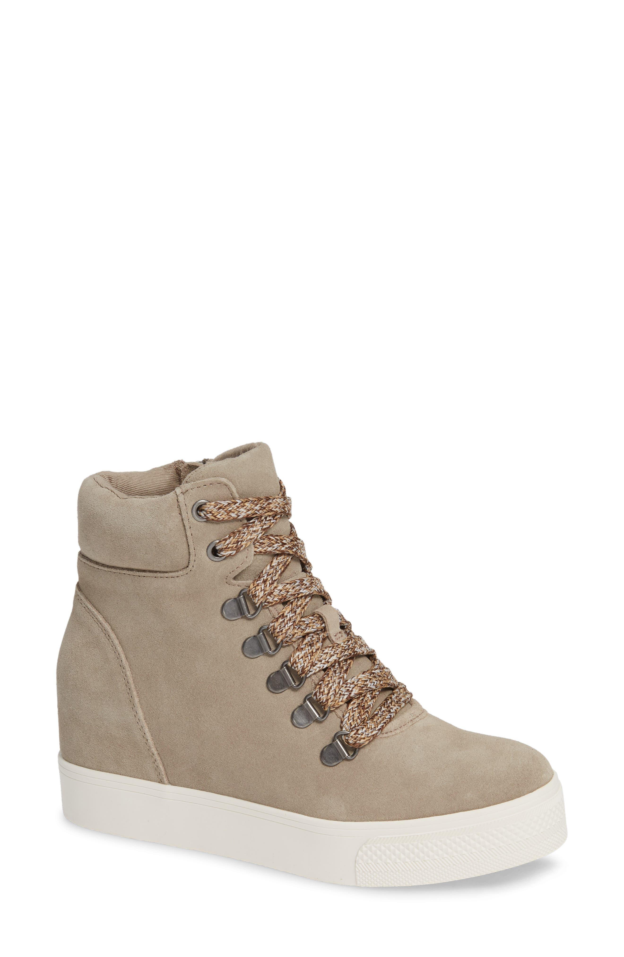 Catch Hidden Wedge Sneaker in Taupe