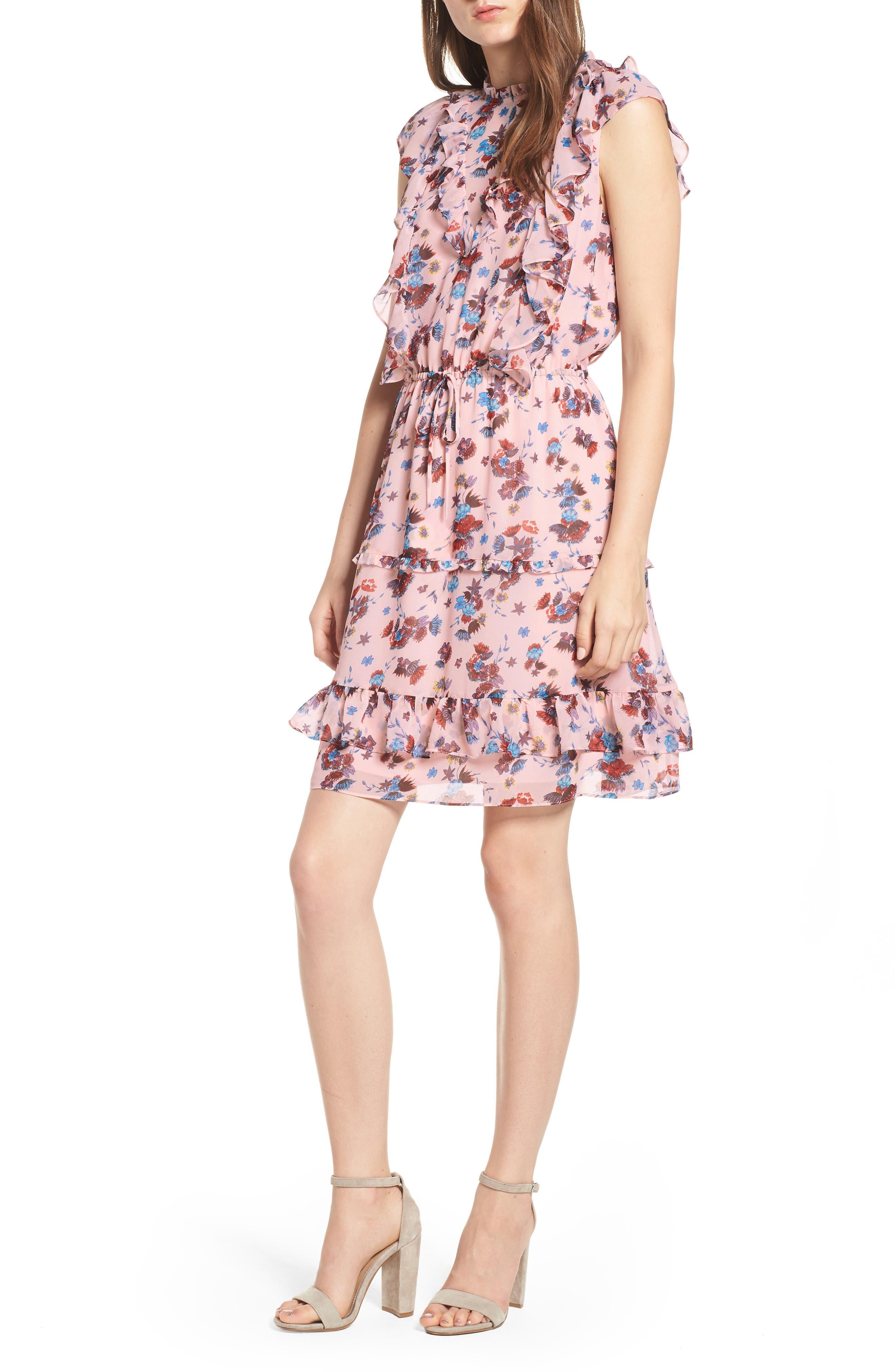 Kika Dress,                             Main thumbnail 1, color,                             PINK MULTI