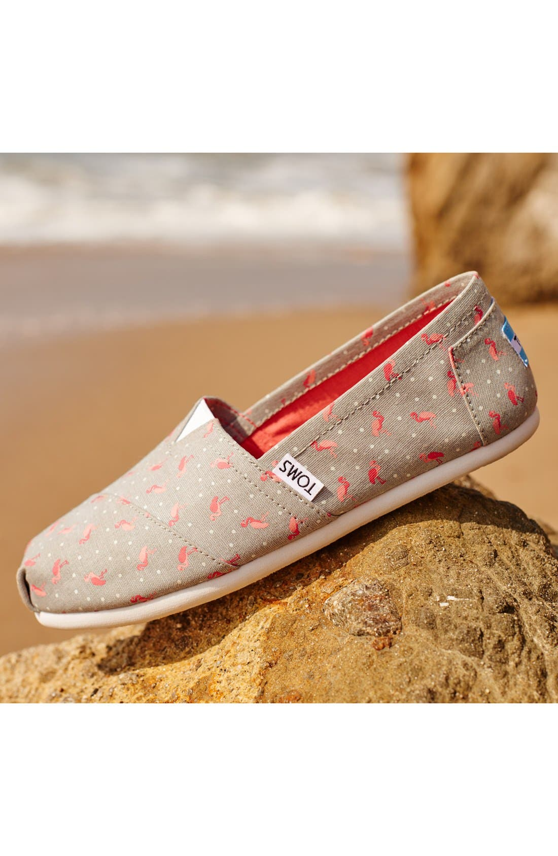 'Classic - Flamingo' Alpargata Slip-On,                             Alternate thumbnail 5, color,                             020