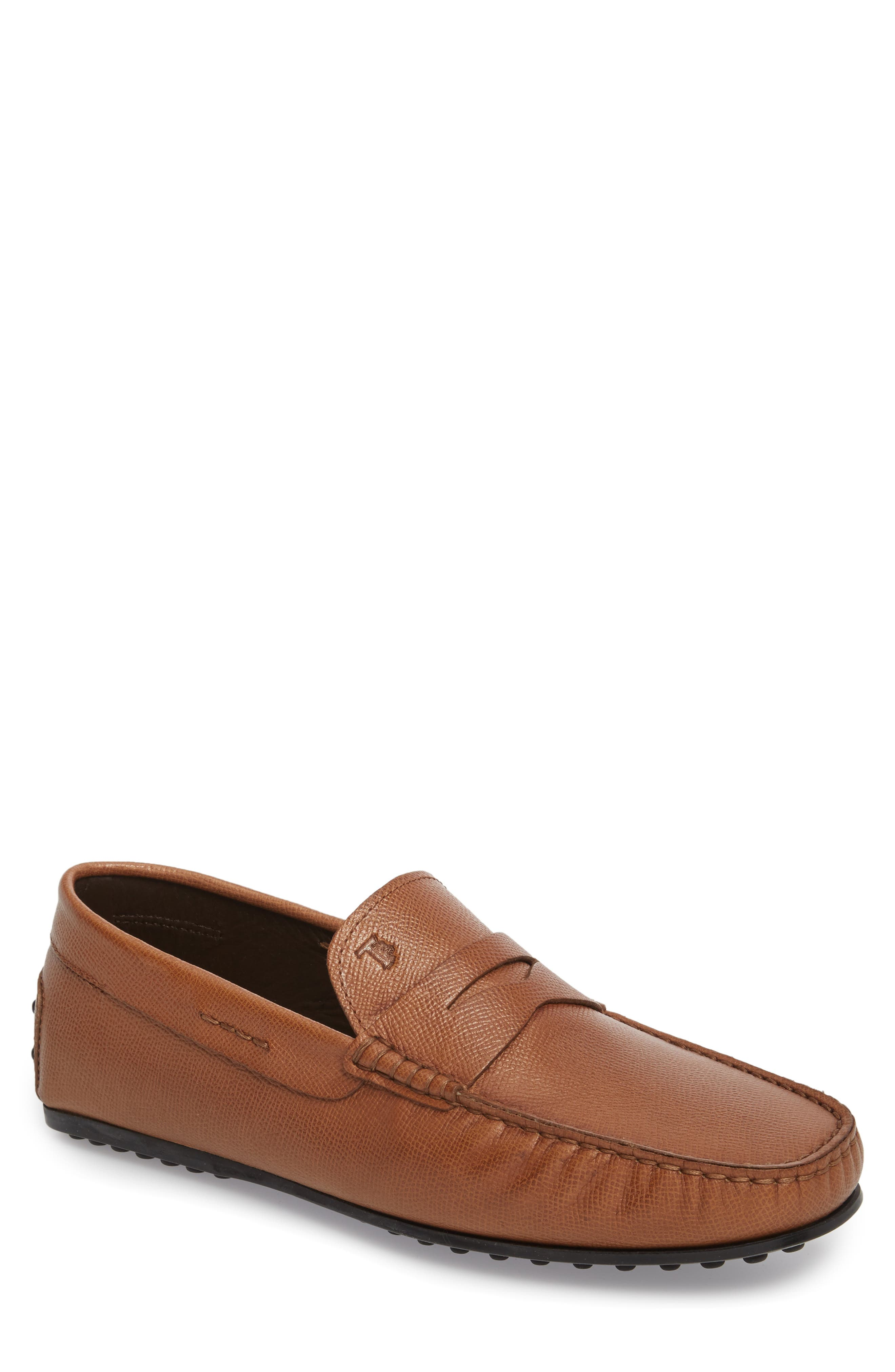 City Driving Shoe,                             Main thumbnail 1, color,                             TAN LEATHER