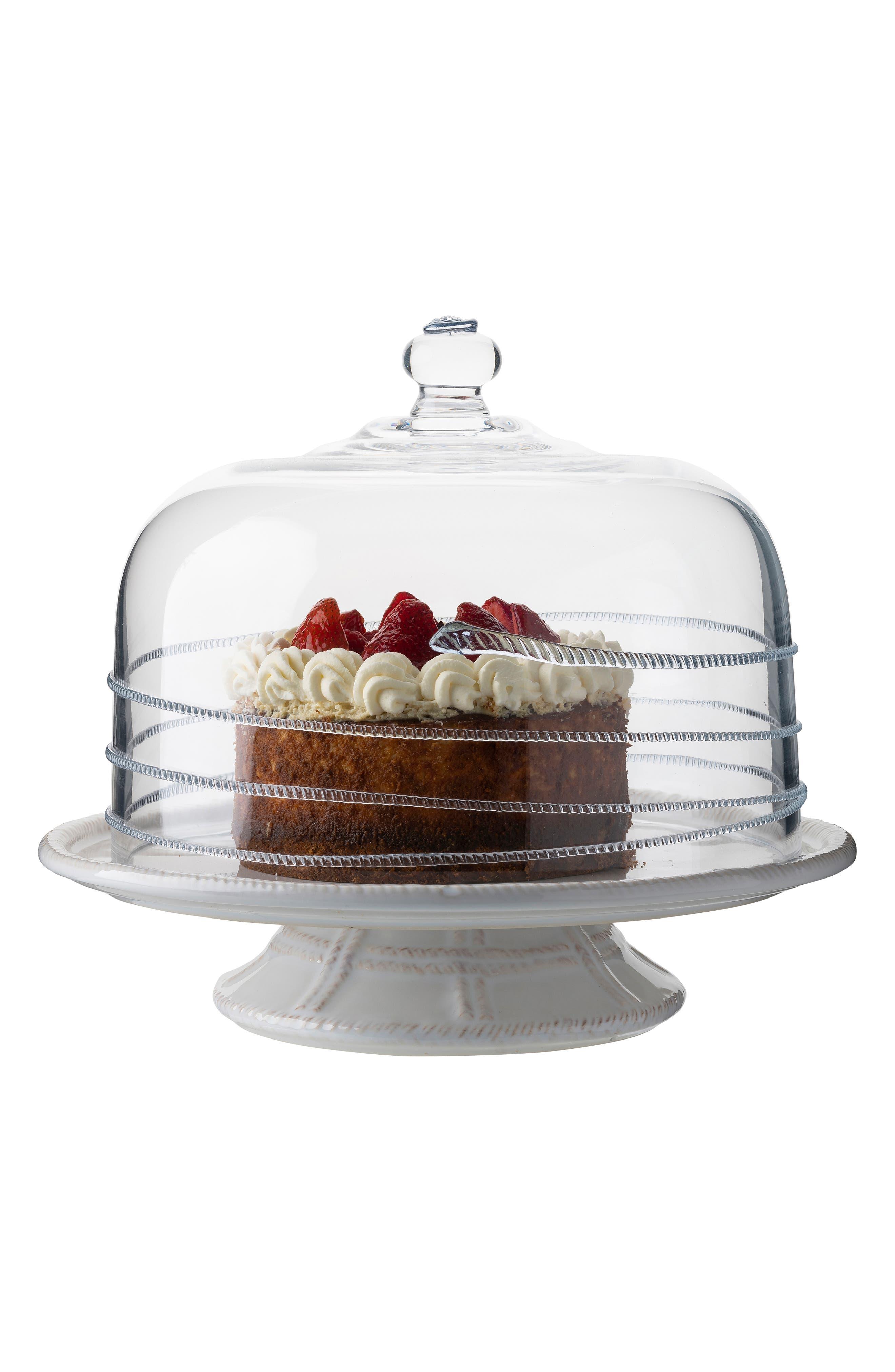 JULISKA,                             Amalia Glass Cake Dome,                             Alternate thumbnail 2, color,                             CLEAR