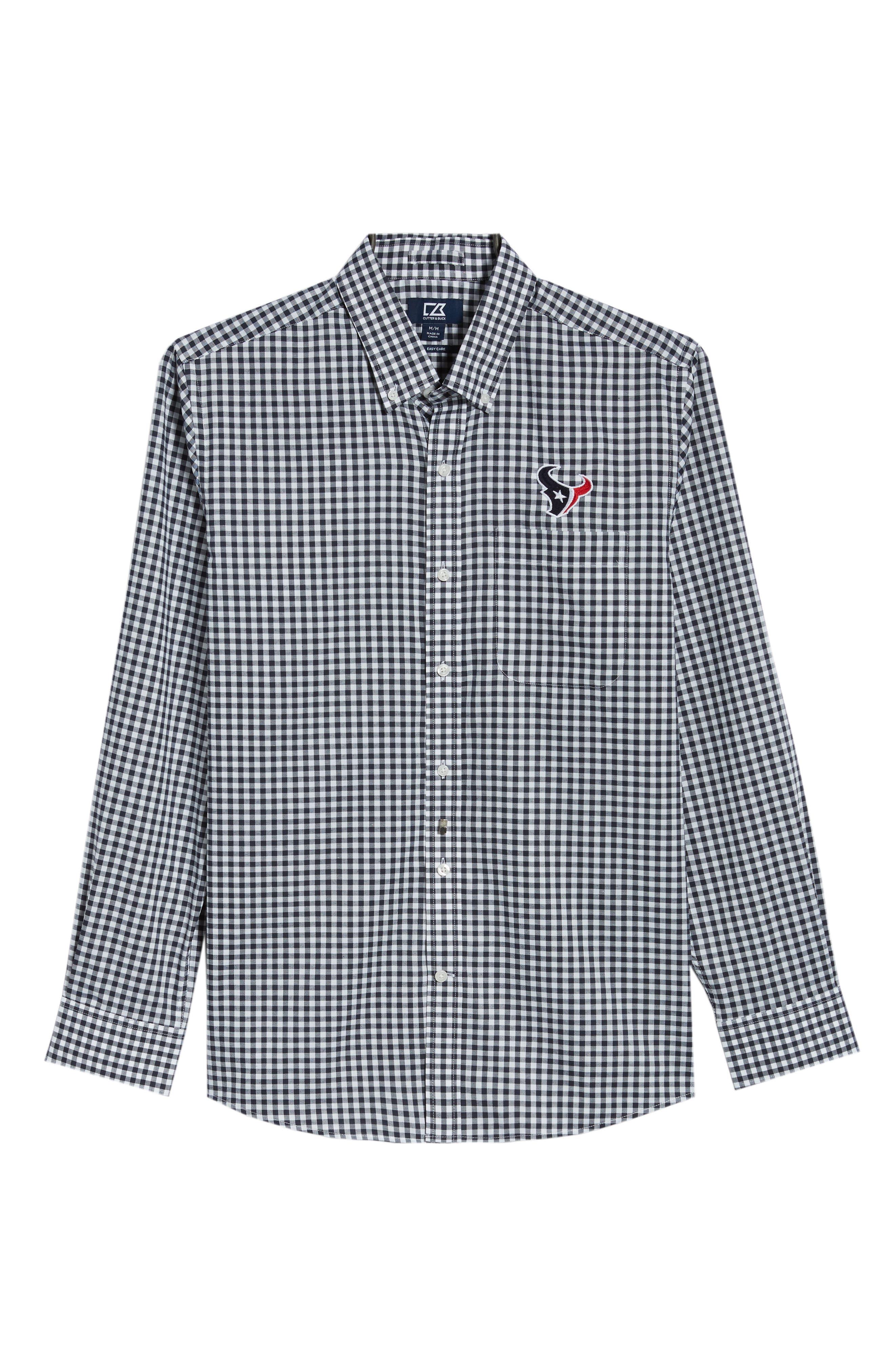 League Houston Texans Regular Fit Shirt,                             Alternate thumbnail 6, color,                             LIBERTY NAVY