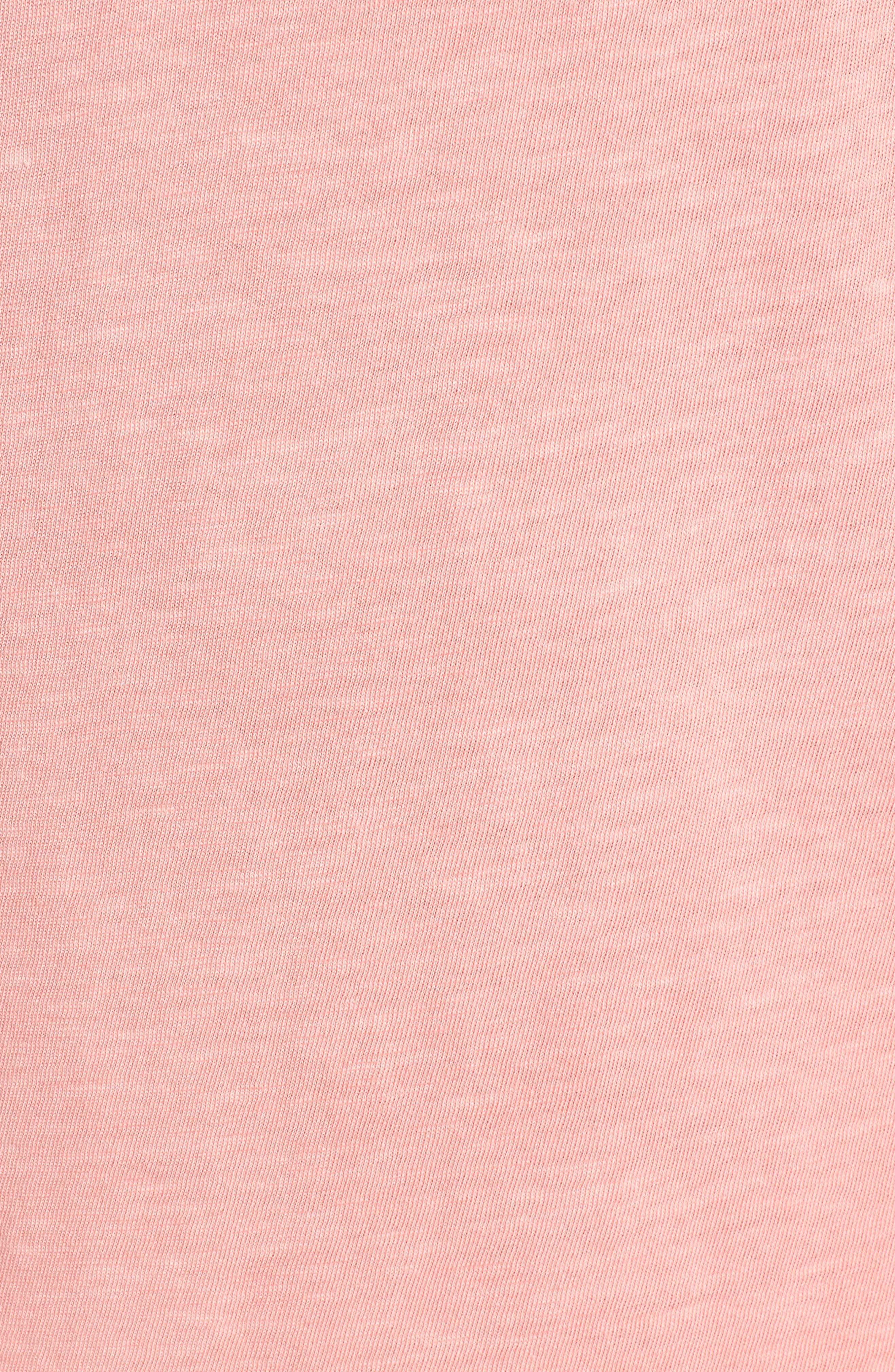 Ruffle Sleeve Shift Dress,                             Alternate thumbnail 6, color,                             CACTUS FLOWER