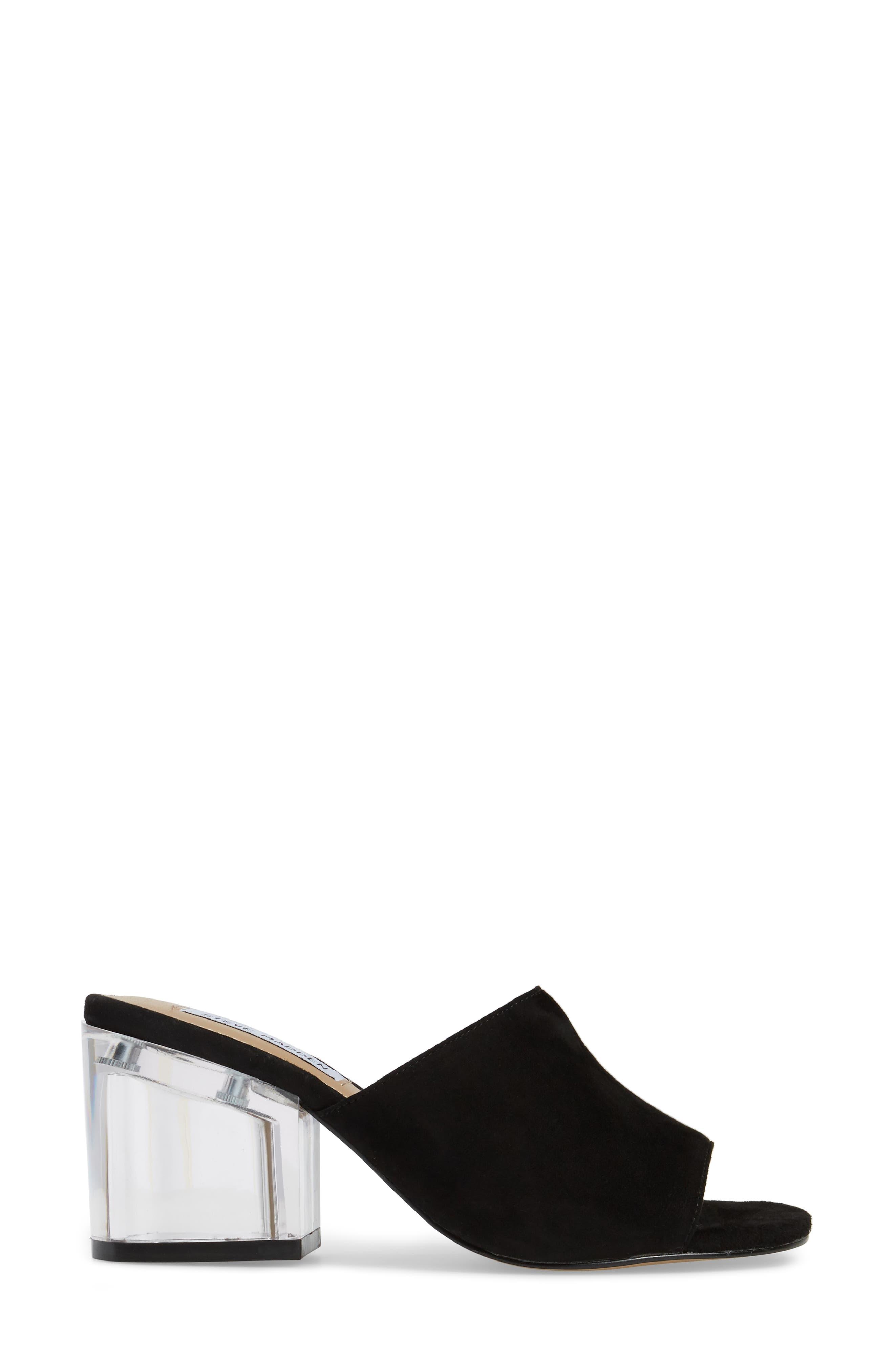 Dalis Clear Heel Slide Sandal,                             Alternate thumbnail 3, color,                             006
