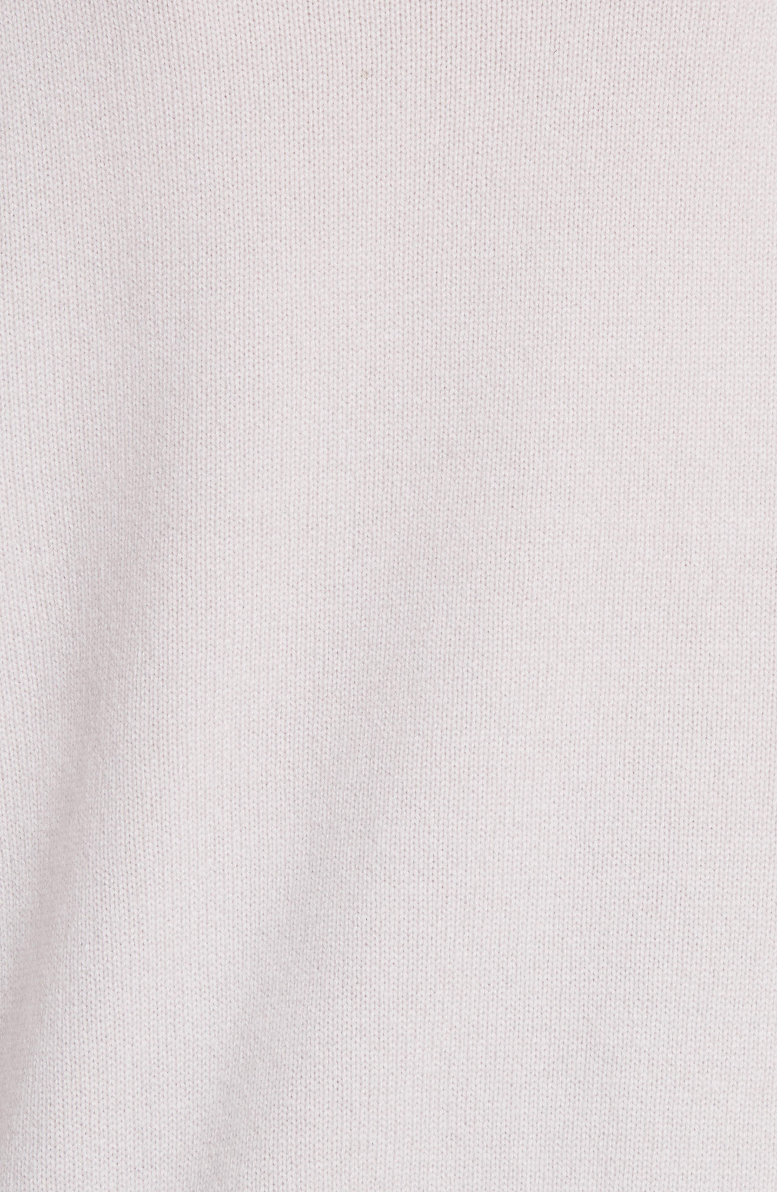 Balloon Sleeve Cashmere Turtleneck Sweater,                             Alternate thumbnail 5, color,                             020