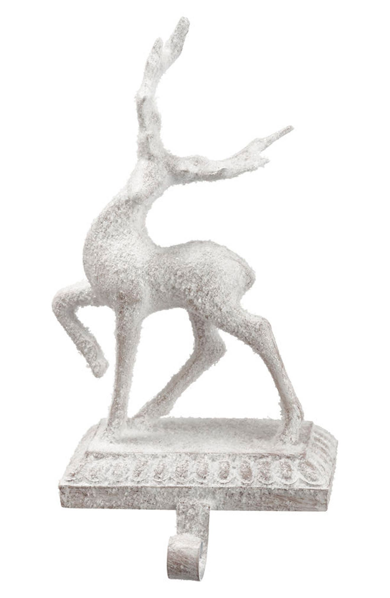 Reindeer Stocking Holder,                         Main,                         color, 100