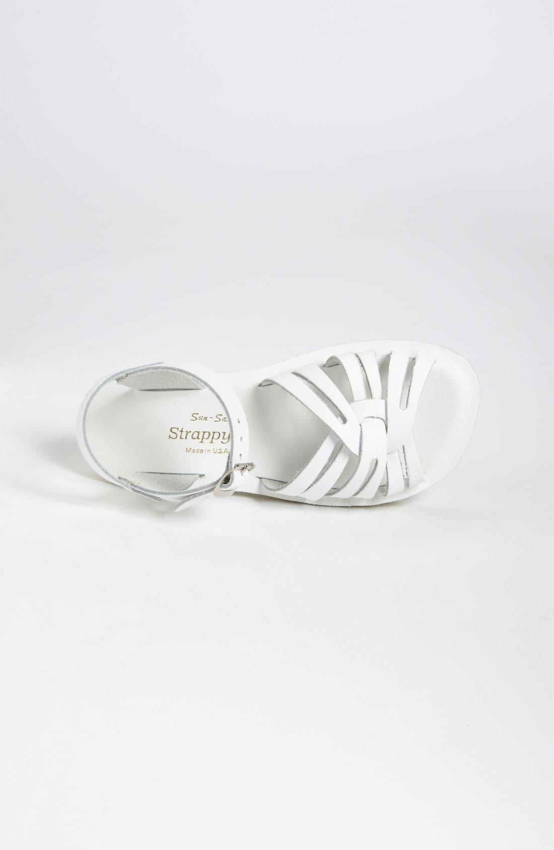 Strappy Sandal,                             Alternate thumbnail 3, color,                             WHITE