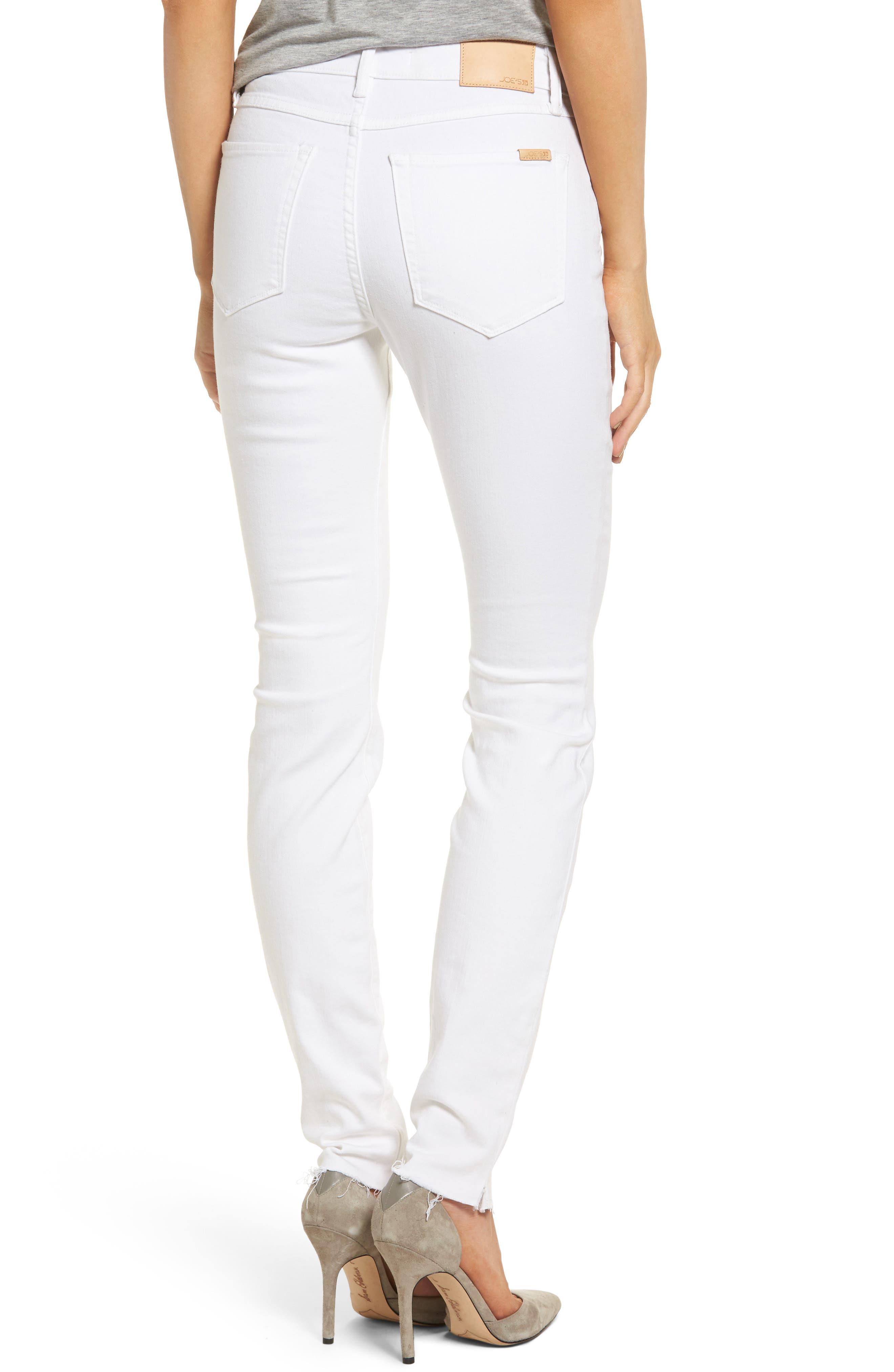 Charlie Raw Hem High Rise Skinny Jeans,                             Alternate thumbnail 2, color,                             120