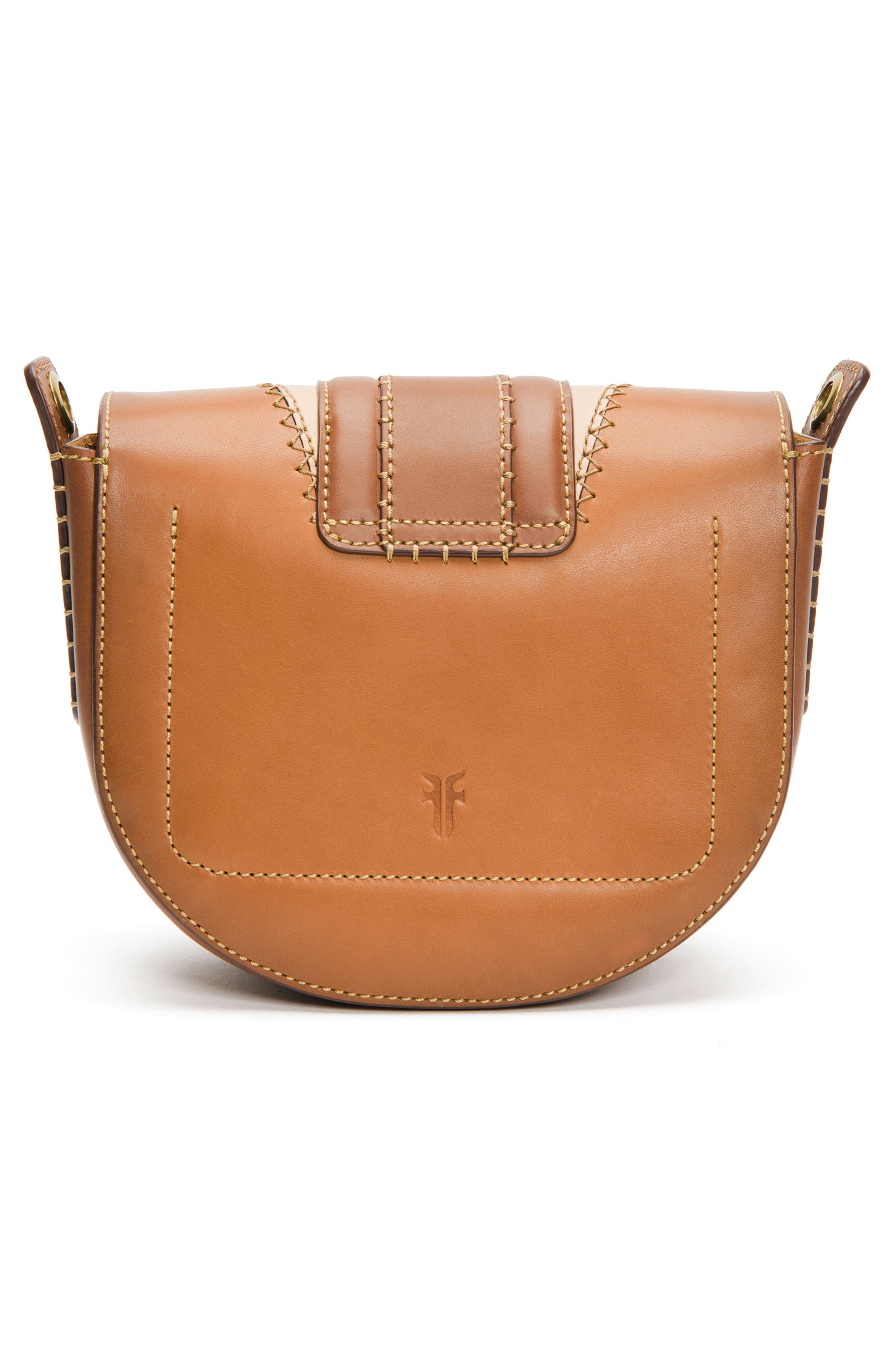 Small Ilana Colorblock Leather Saddle Bag,                             Alternate thumbnail 3, color,                             200