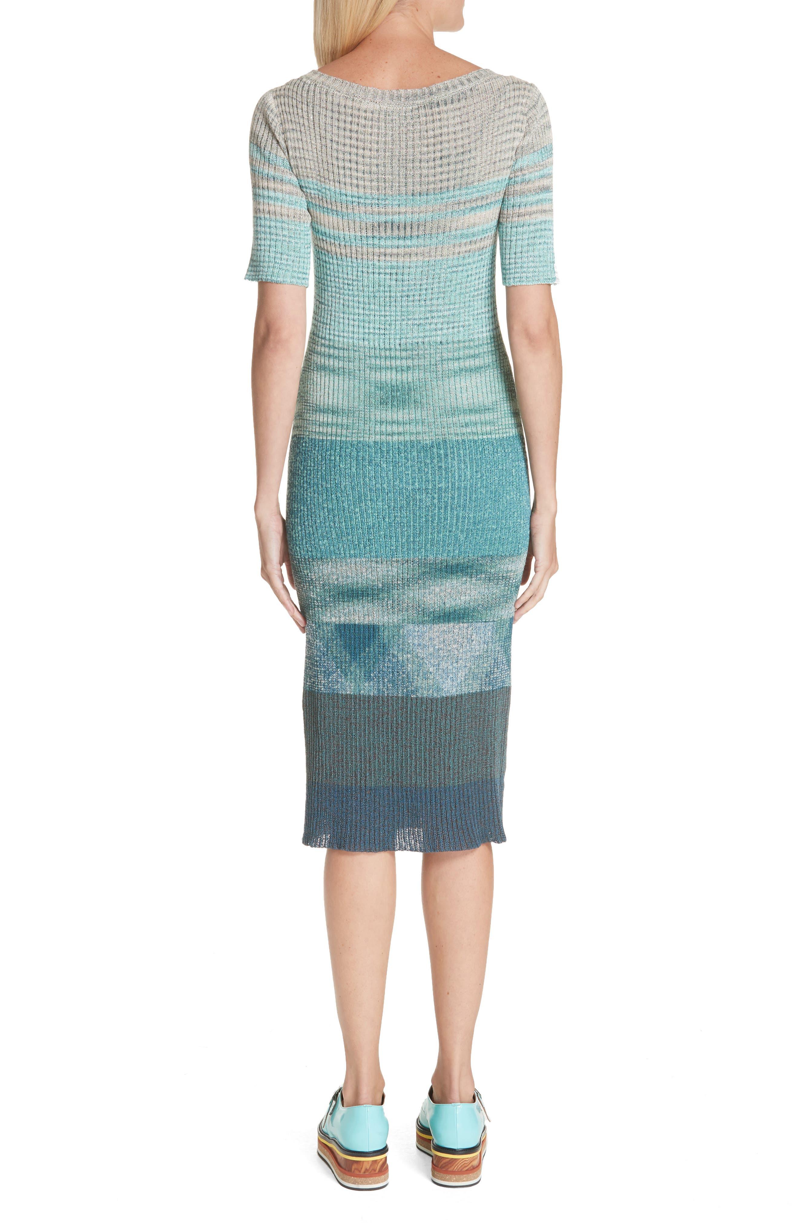 Boatneck Ribbed Dress,                             Alternate thumbnail 2, color,                             BLUE