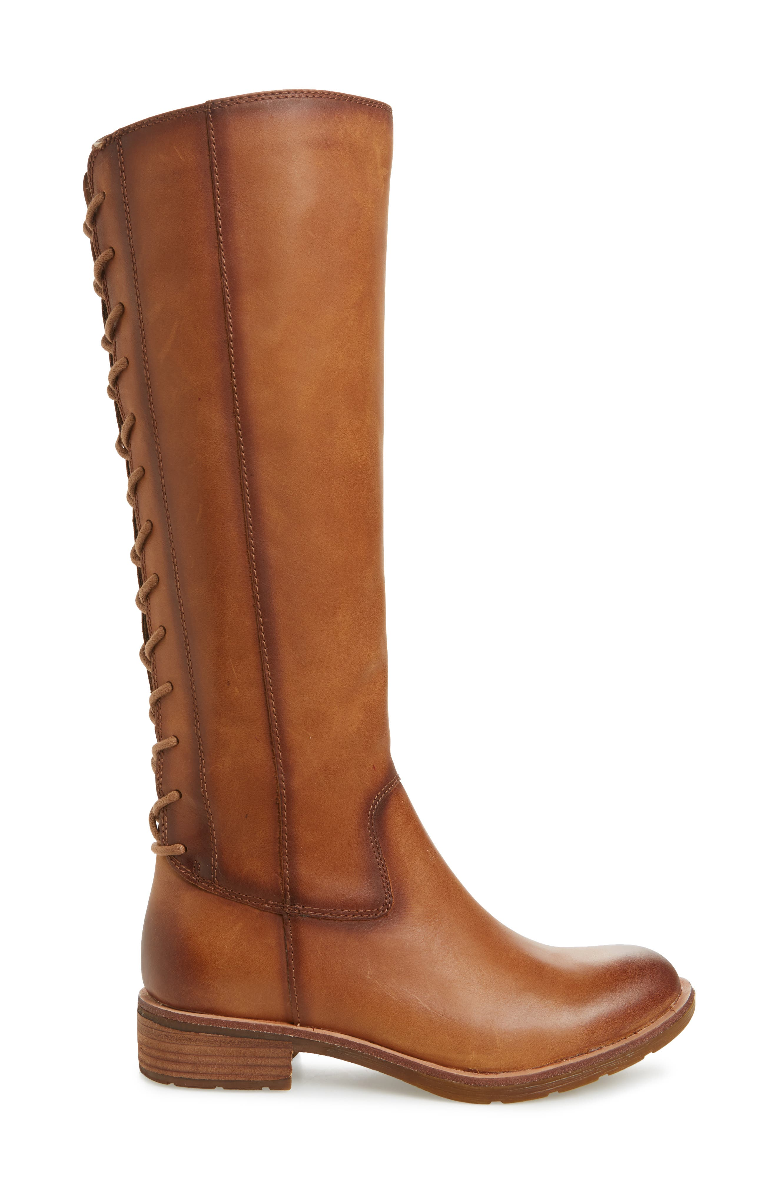 Sharnell II Knee High Boot,                             Alternate thumbnail 3, color,                             BISCUIT LEATHER