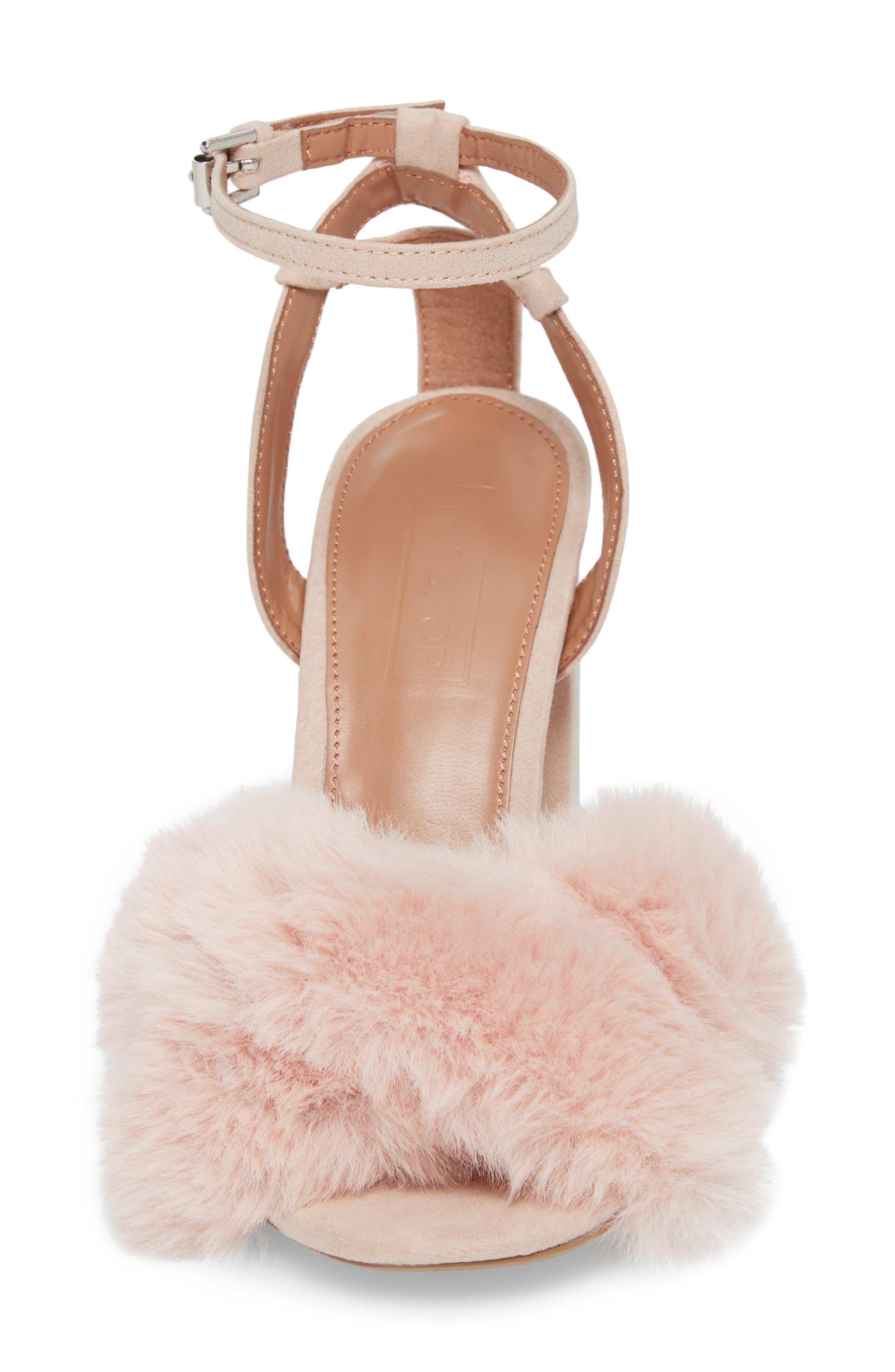 Sassy Faux Fur Sandal,                             Alternate thumbnail 12, color,