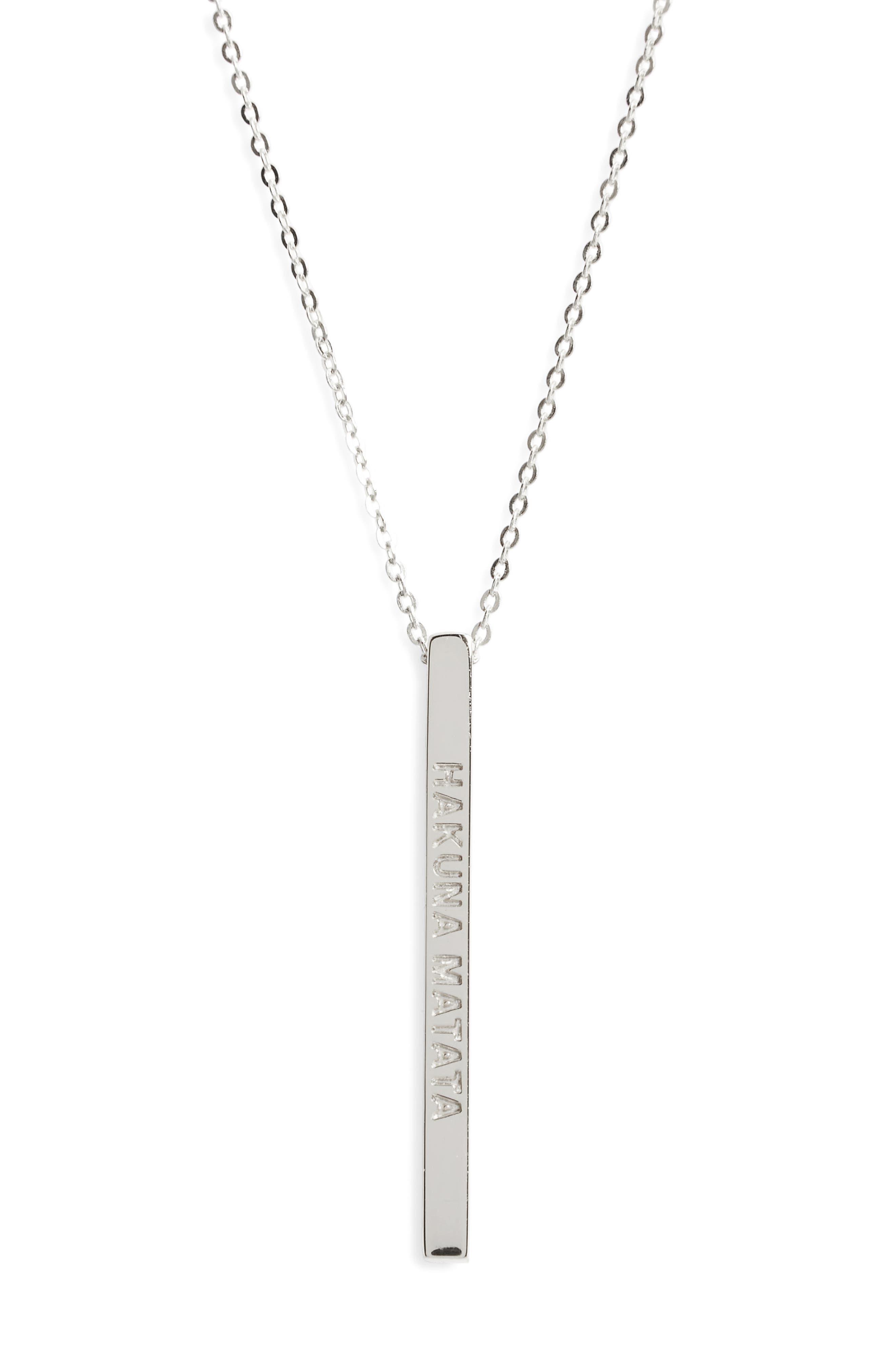 Hakuna Matata Pendant Necklace,                         Main,                         color, 040