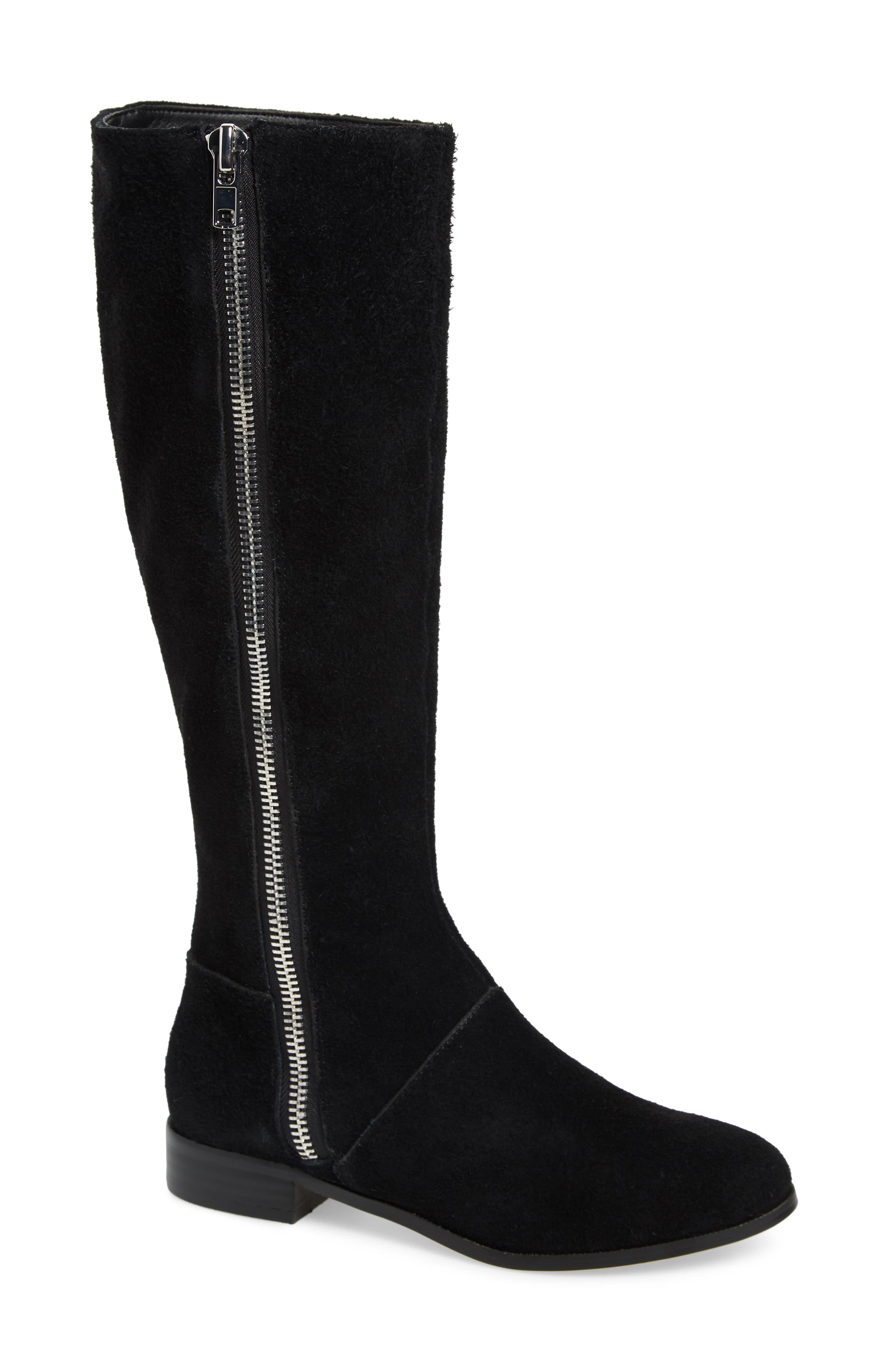 M4D3 Ramsey Knee High Boot, Main, color, BLACK SUEDE