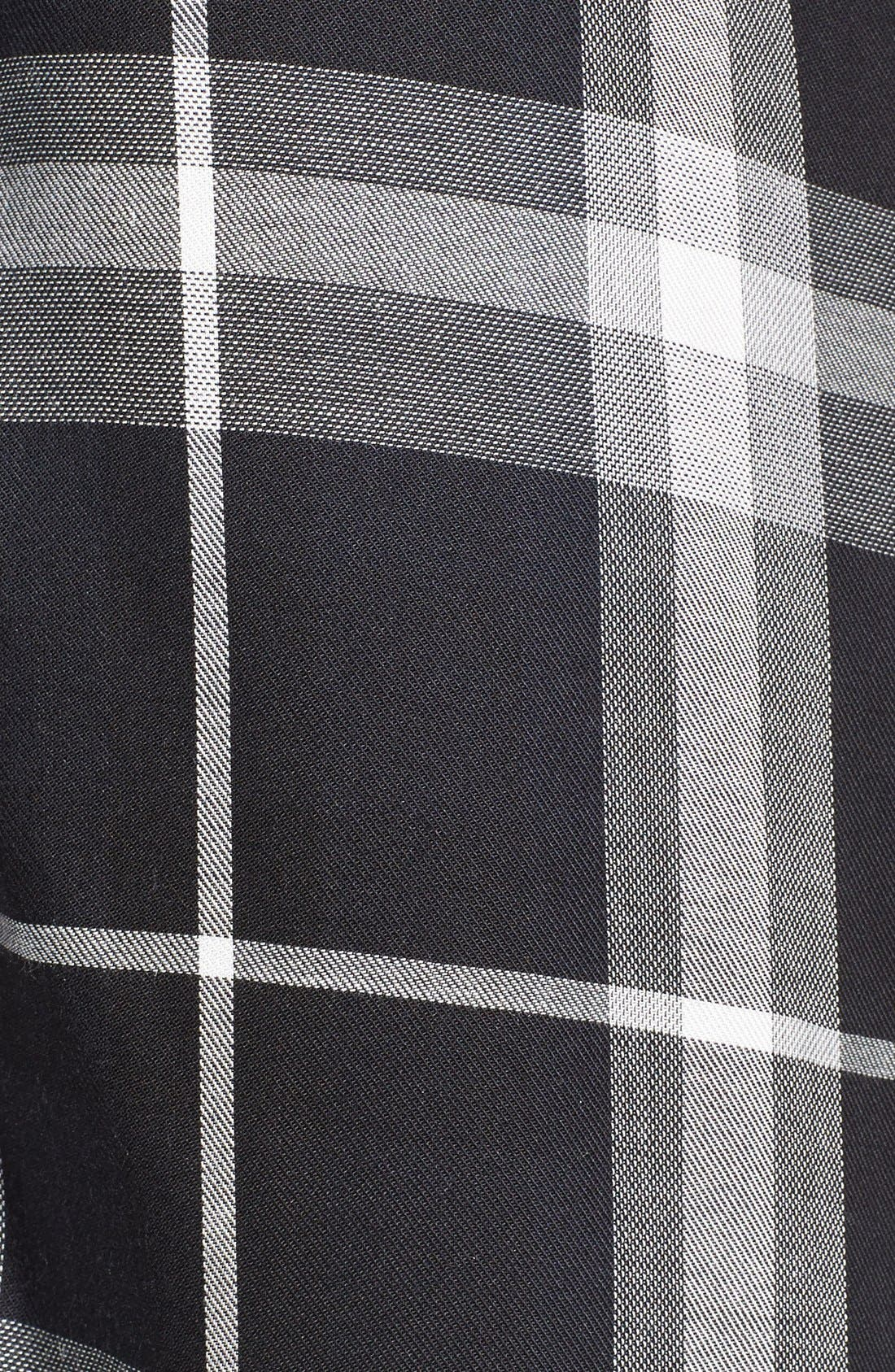 'Coley' Plaid Maxi Shirtdress,                             Alternate thumbnail 5, color,                             001