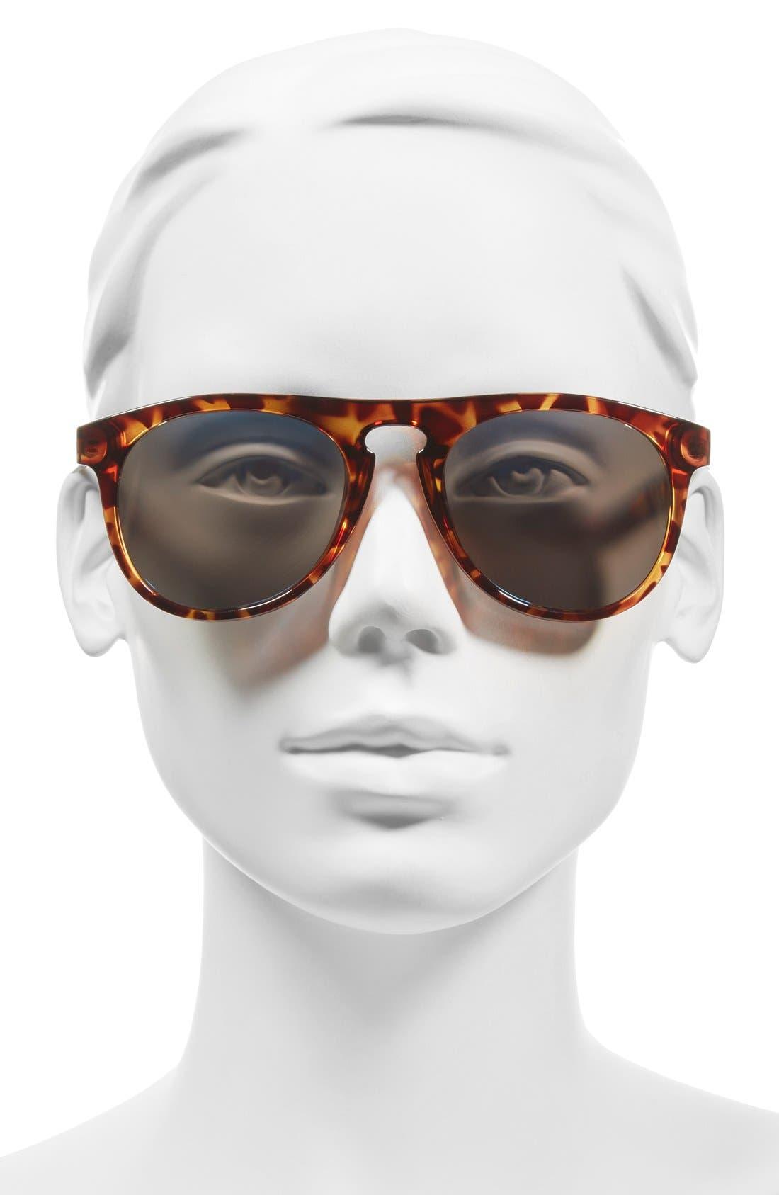 'Foxtail' 52mm Polarized Aviator Sunglasses,                             Alternate thumbnail 5, color,