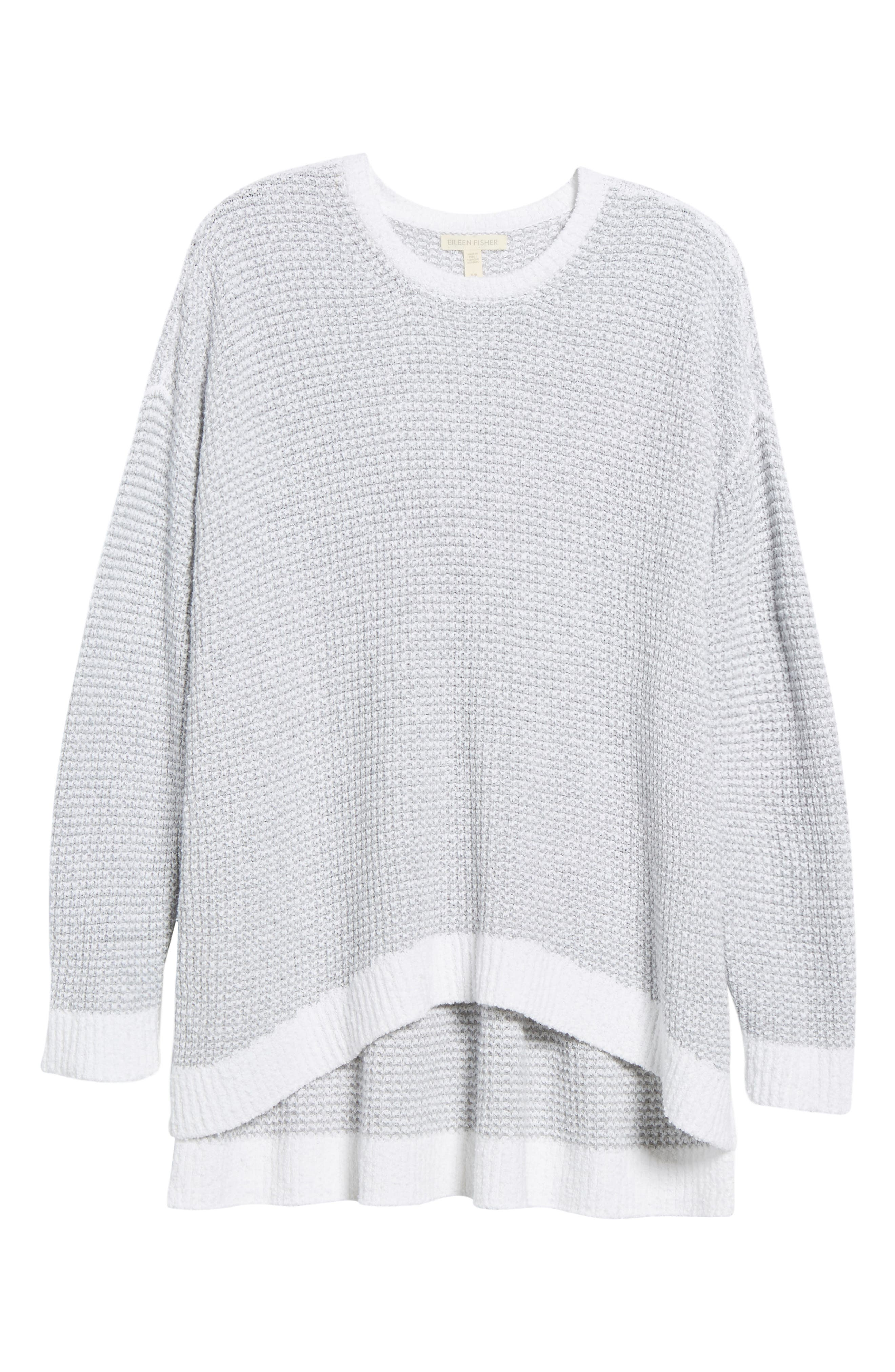 Waffled Organic Cotton Sweater,                             Alternate thumbnail 6, color,                             022